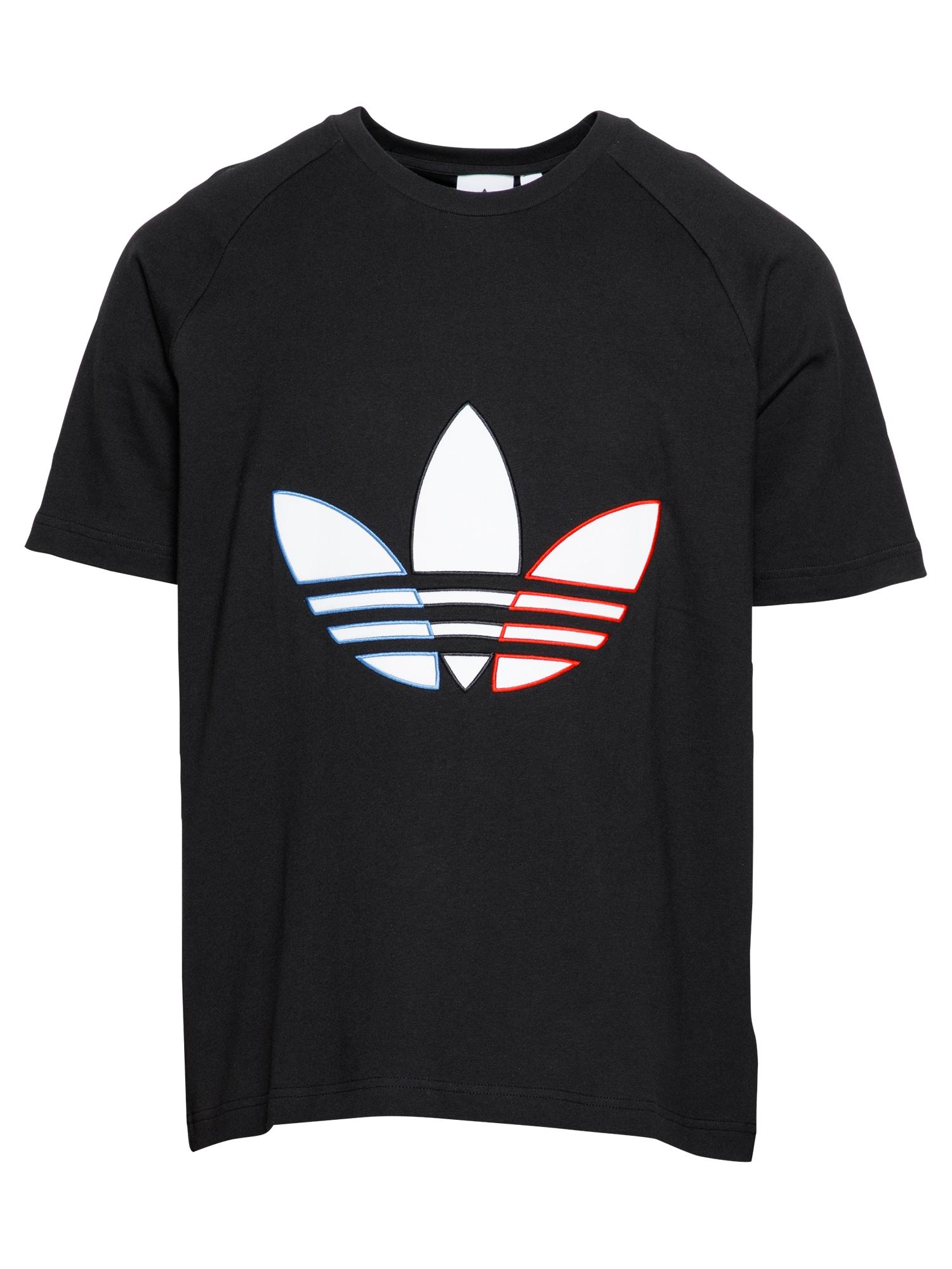 ADIDAS ORIGINALS Marškinėliai juoda / balta / raudona / dangaus žydra