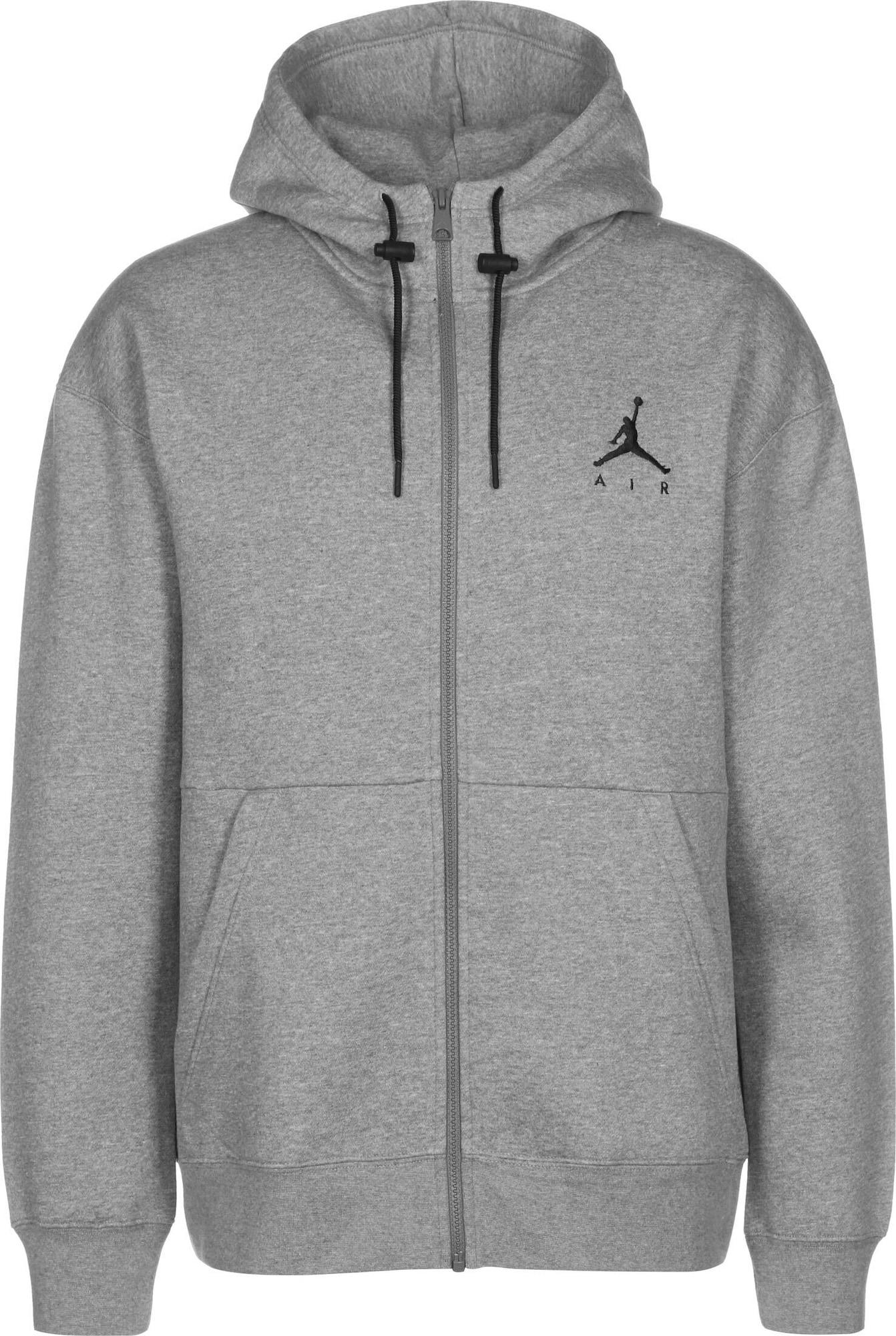 Jordan Džemperis margai pilka / juoda