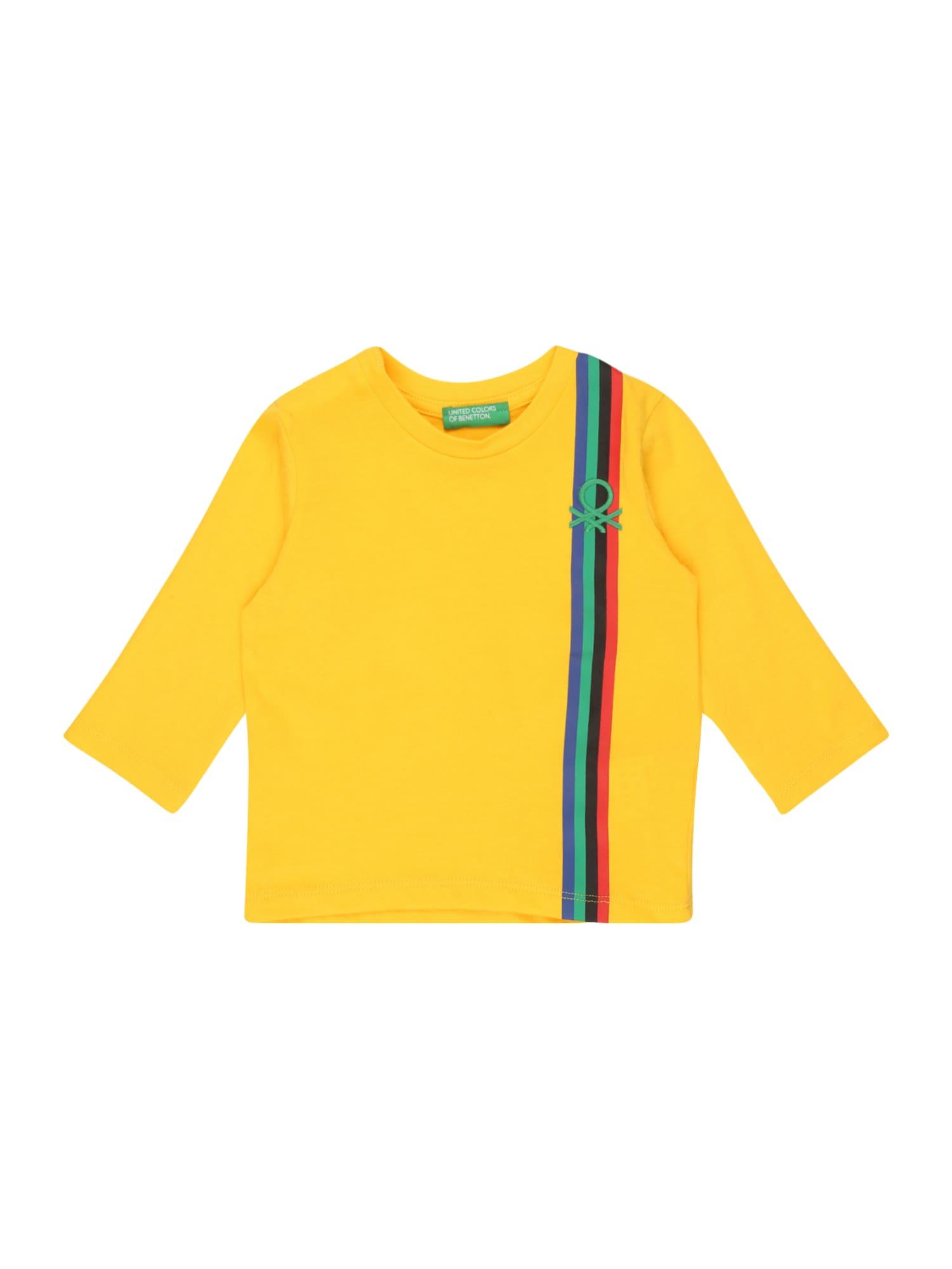 UNITED COLORS OF BENETTON Tričko  žlutá / mix barev