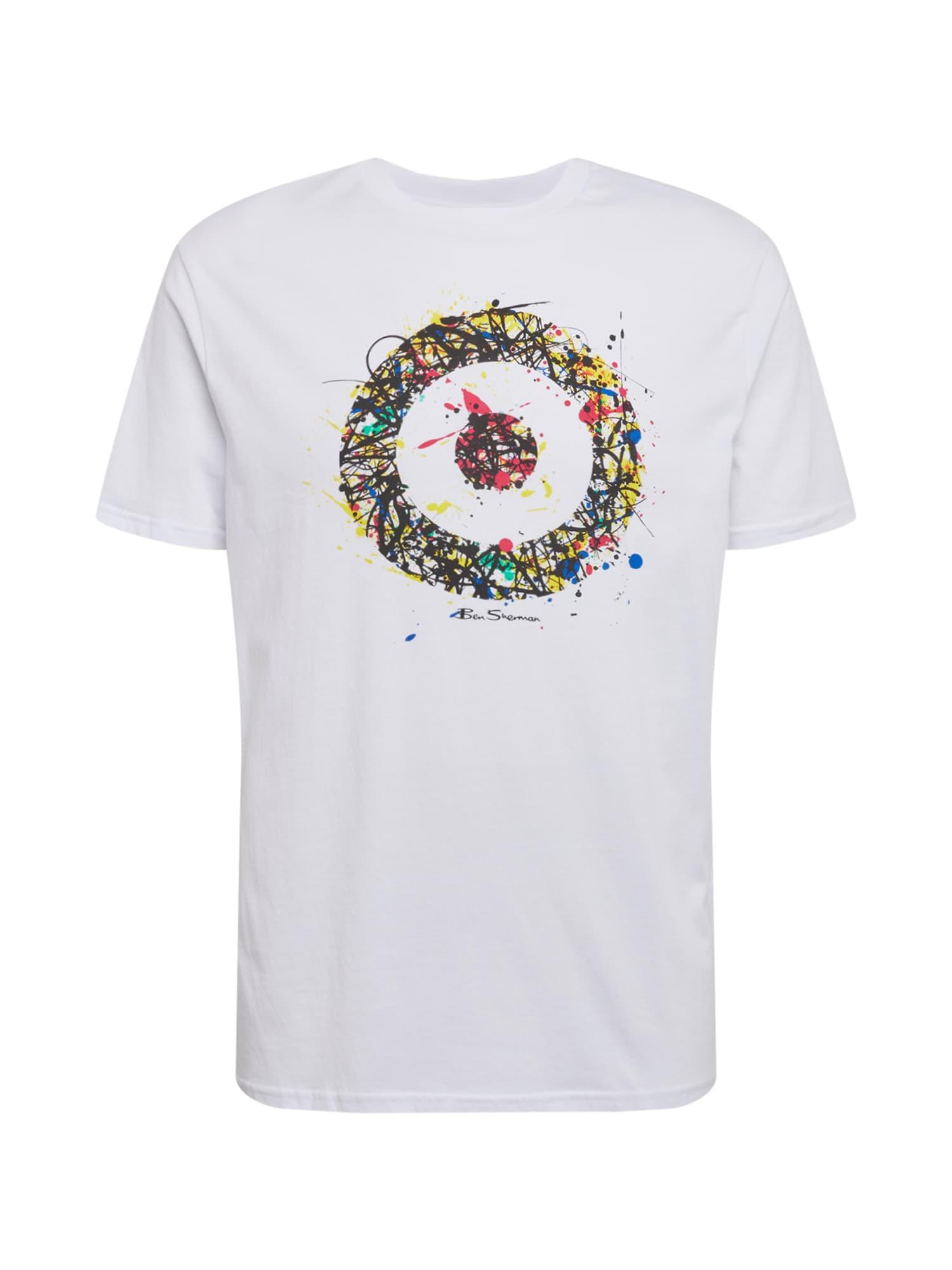 Ben Sherman Marškinėliai balta / mišrios spalvos / juoda