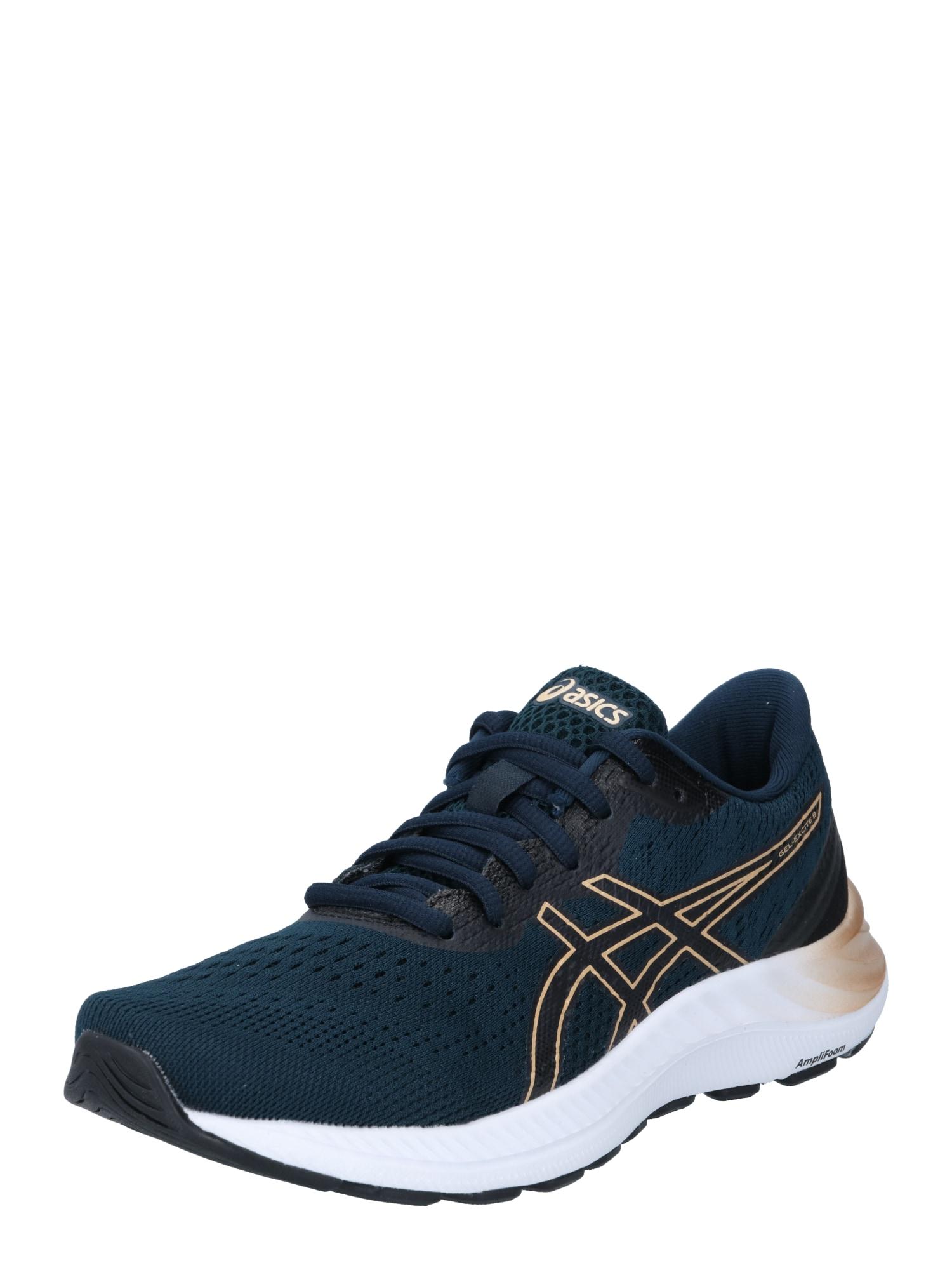 ASICS Bėgimo batai nakties mėlyna / aukso geltonumo spalva