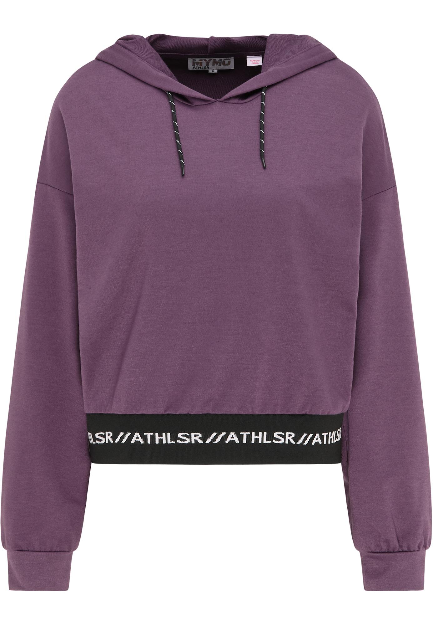 myMo ATHLSR Sportinio tipo megztinis uogų spalva / juoda