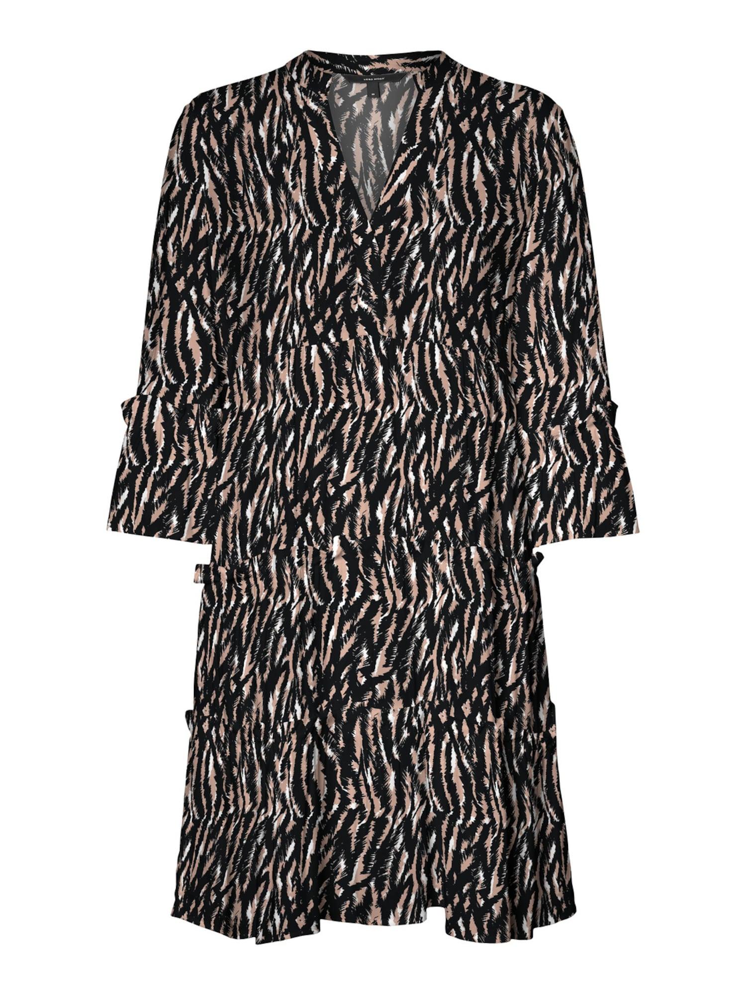 Vero Moda Tall Suknelė ryškiai rožinė spalva / juoda / balta