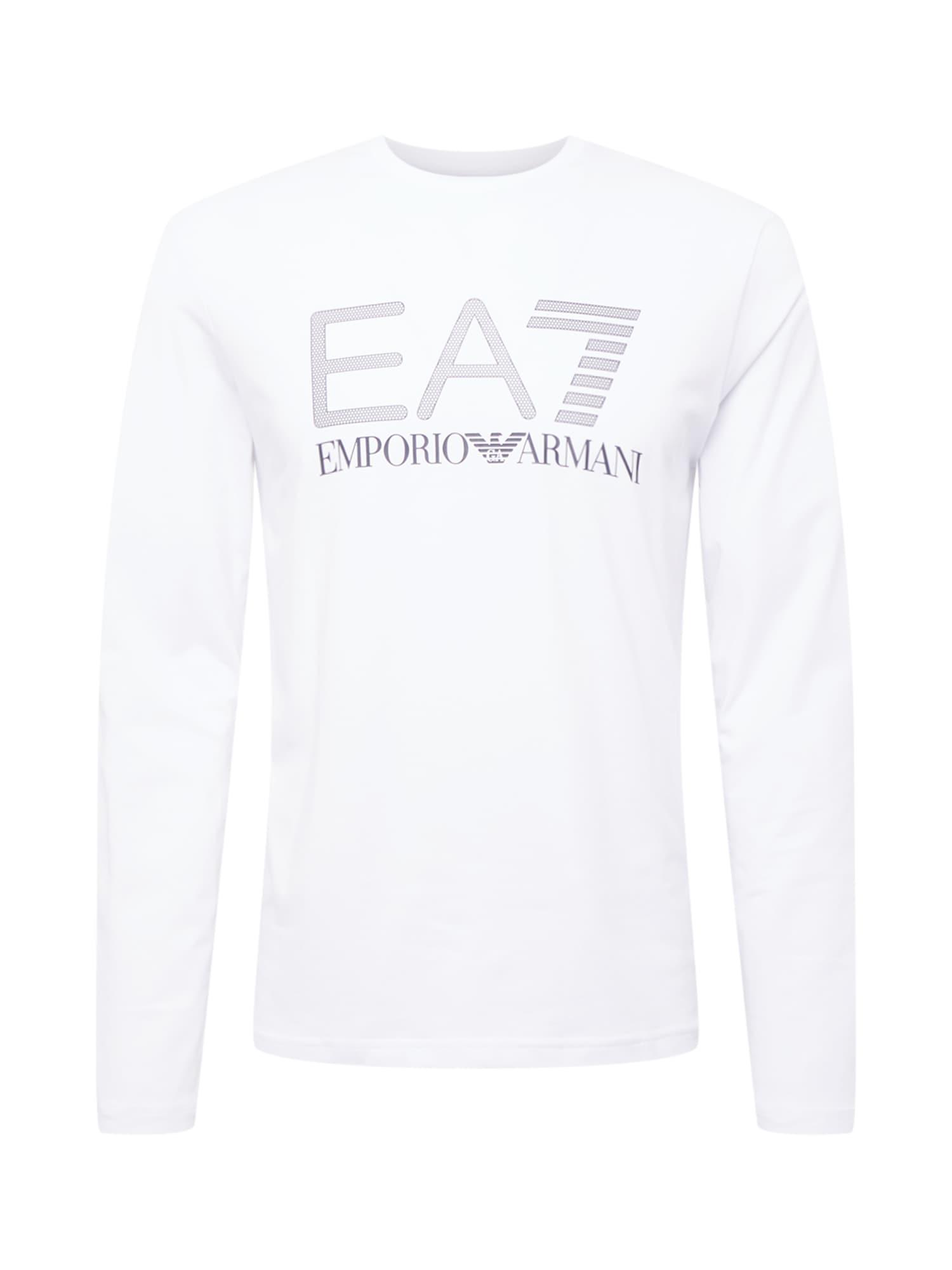 EA7 Emporio Armani Tričko  bílá / šedá / čedičová šedá