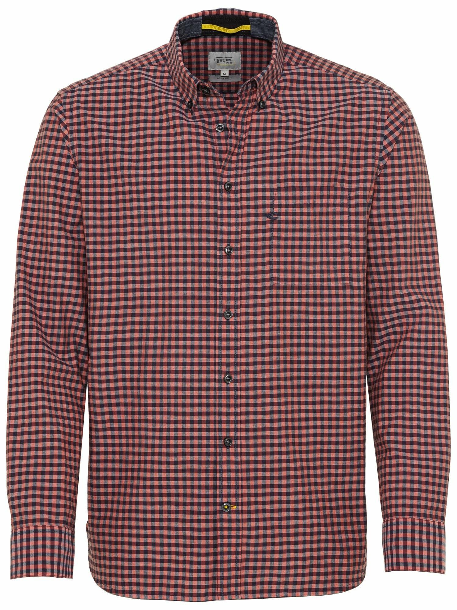 CAMEL ACTIVE Marškiniai lašišų spalva / tamsiai mėlyna