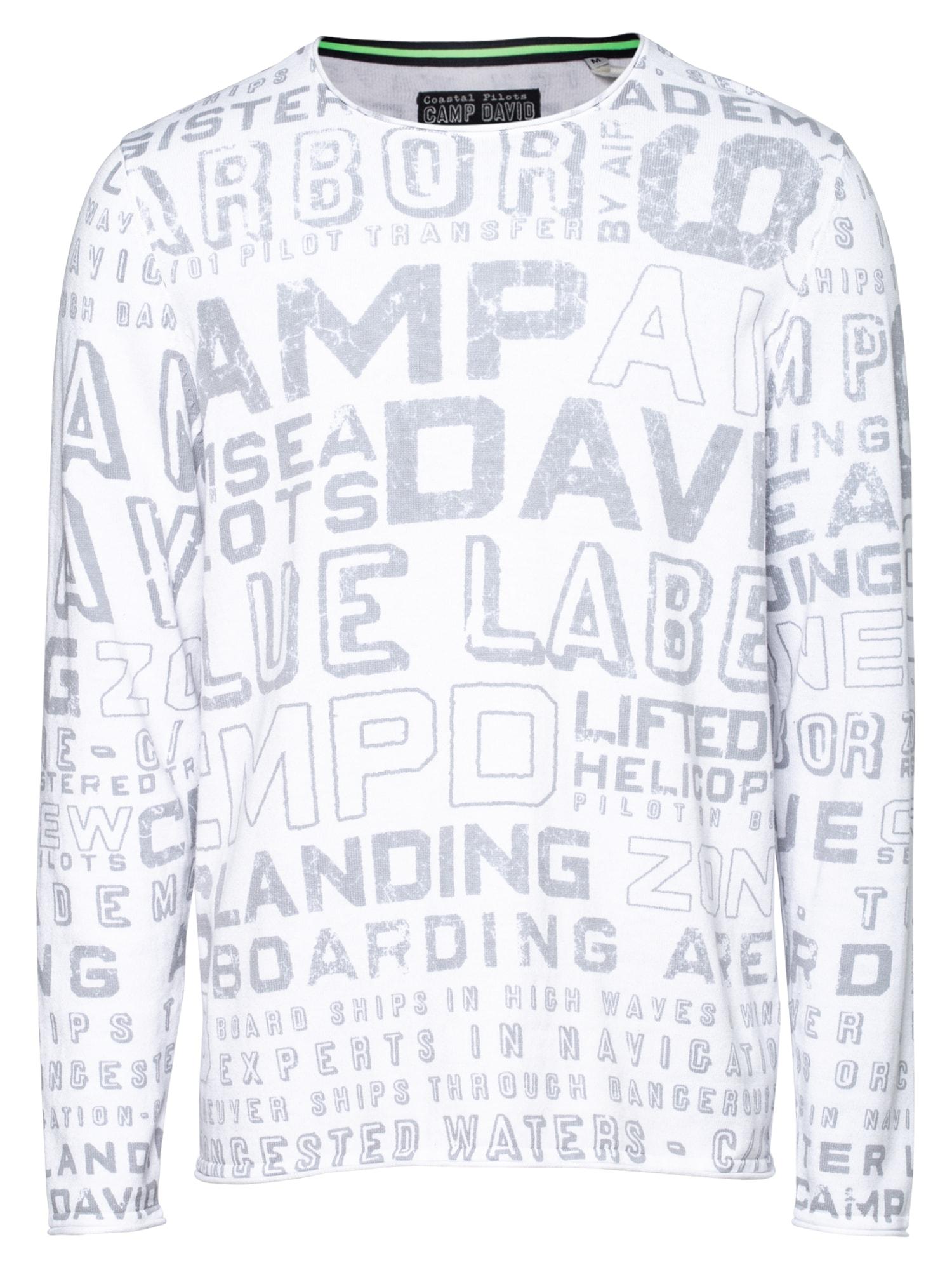 CAMP DAVID Megztinis balta / pilka
