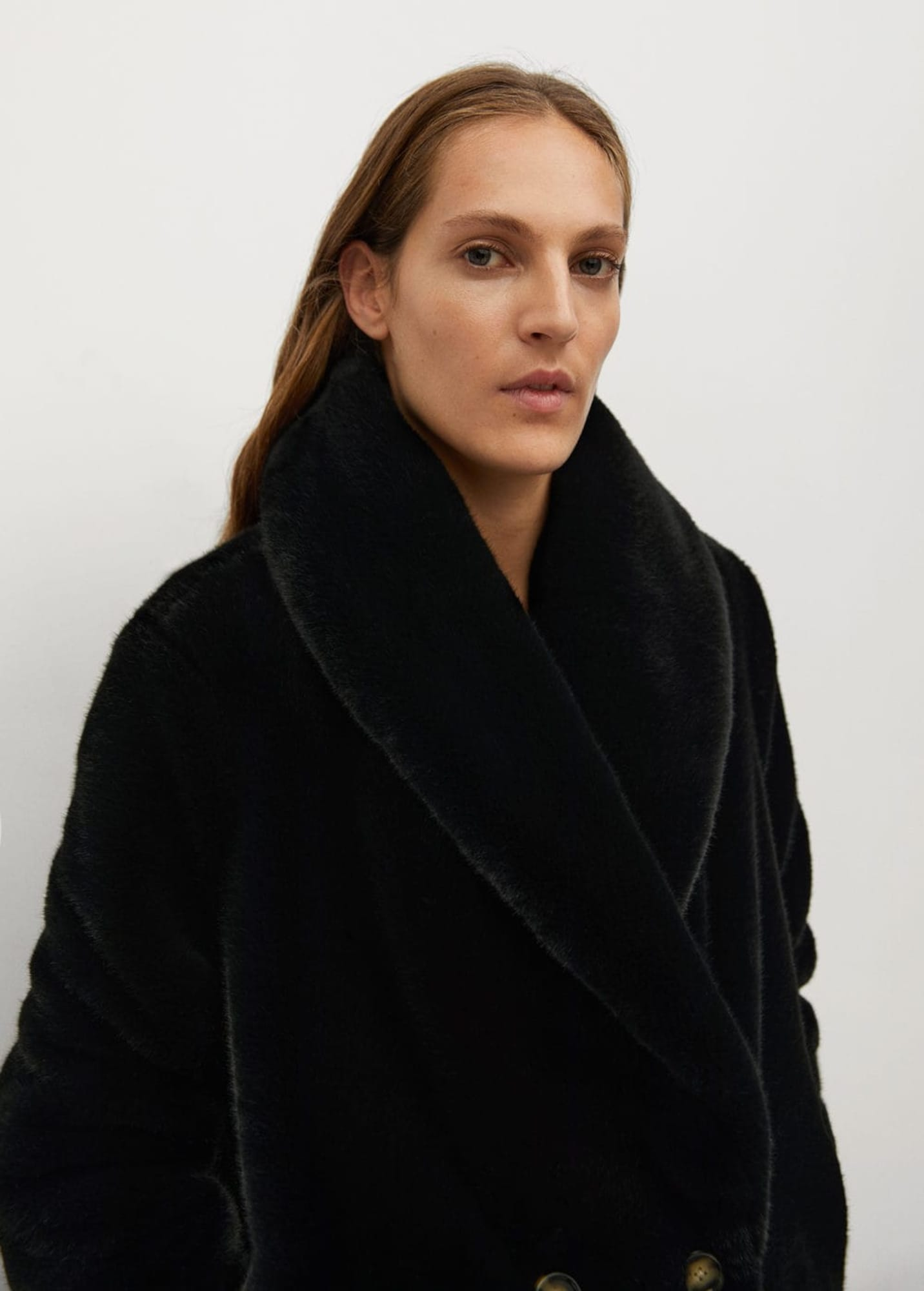 MANGO Prechodný kabát 'Chilly'  čierna.