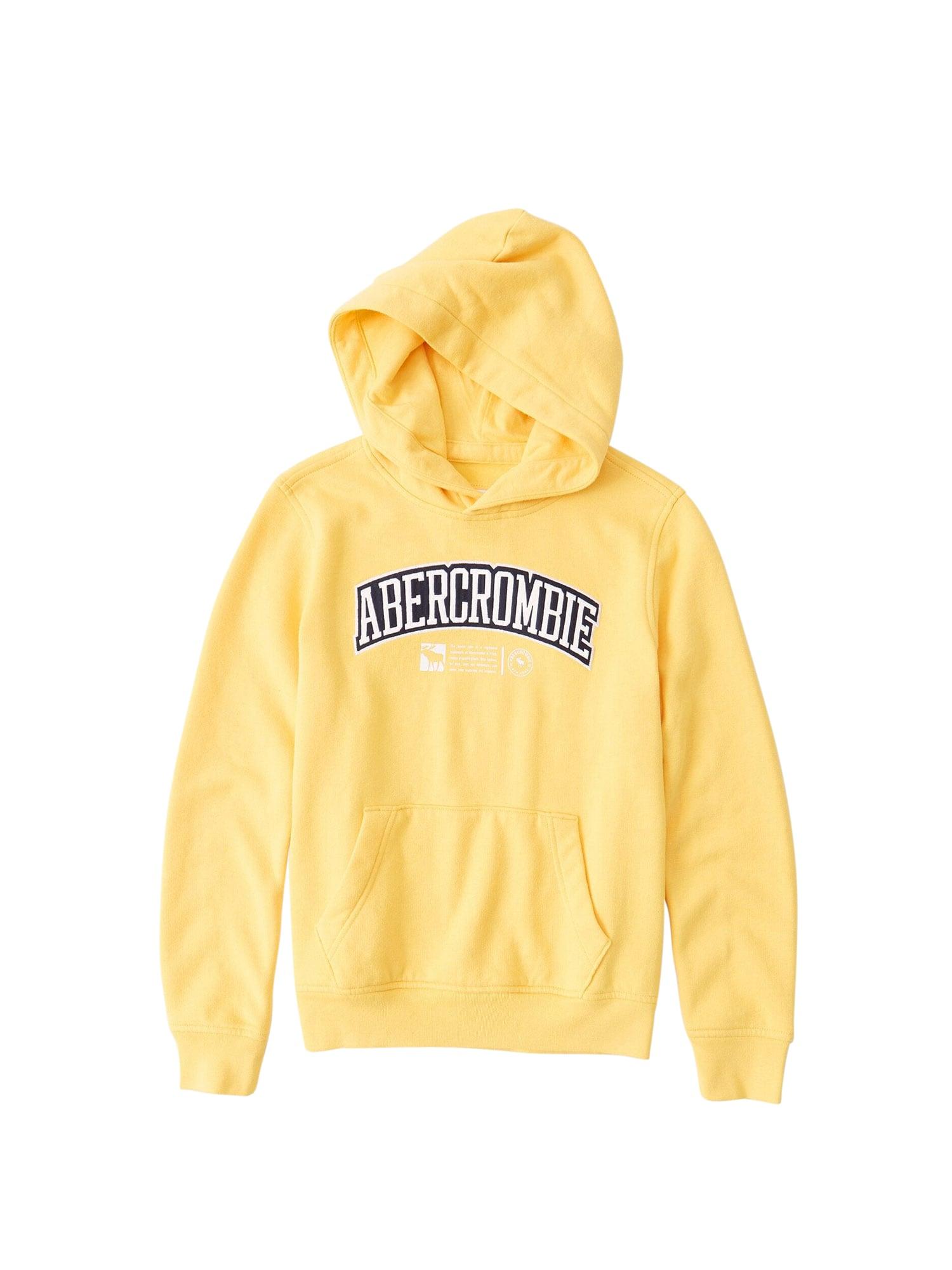 Abercrombie & Fitch Megztinis be užsegimo šviesiai geltona / juoda / balta