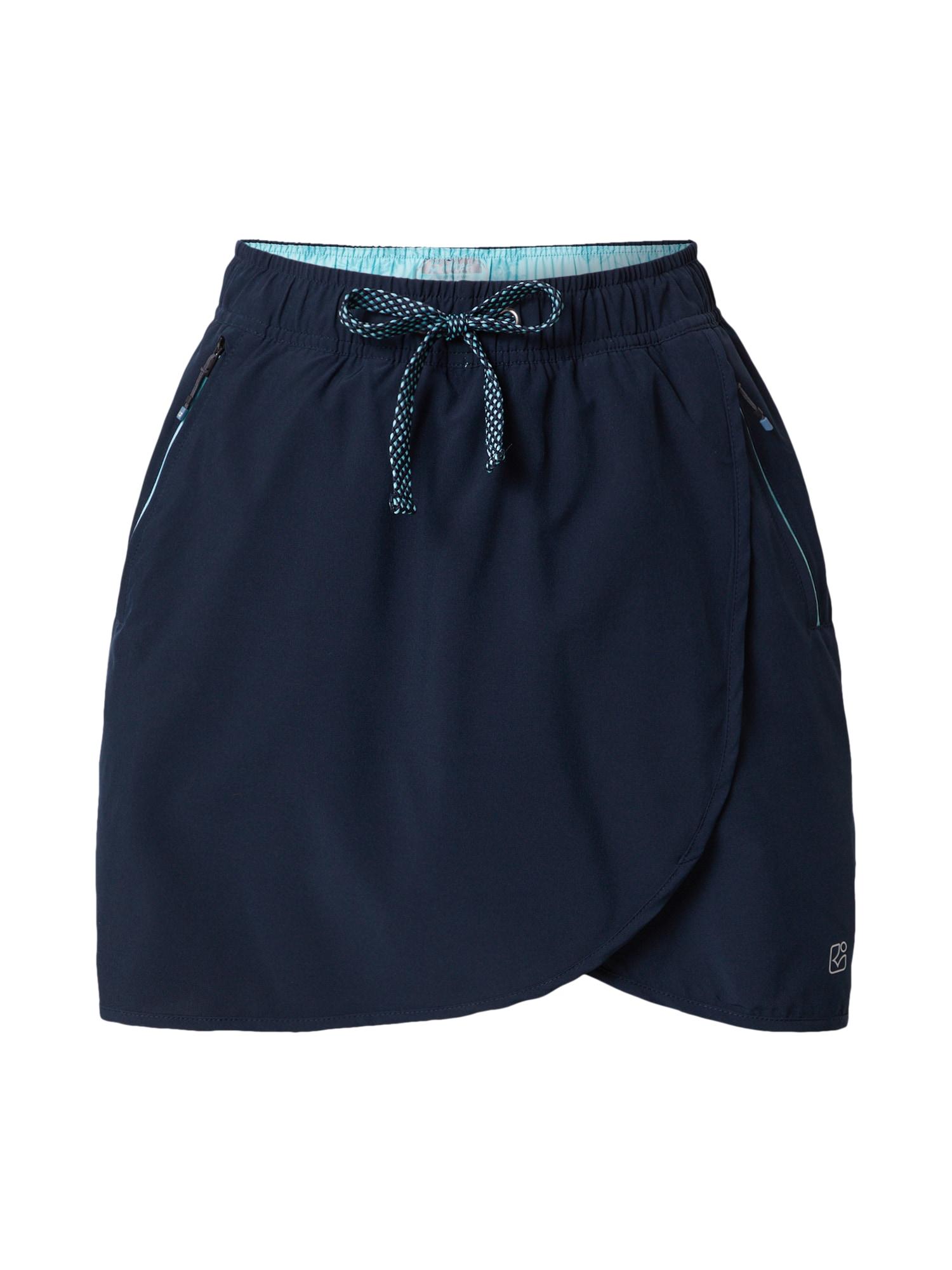 KILLTEC Sportovní sukně 'Zebru'  námořnická modř
