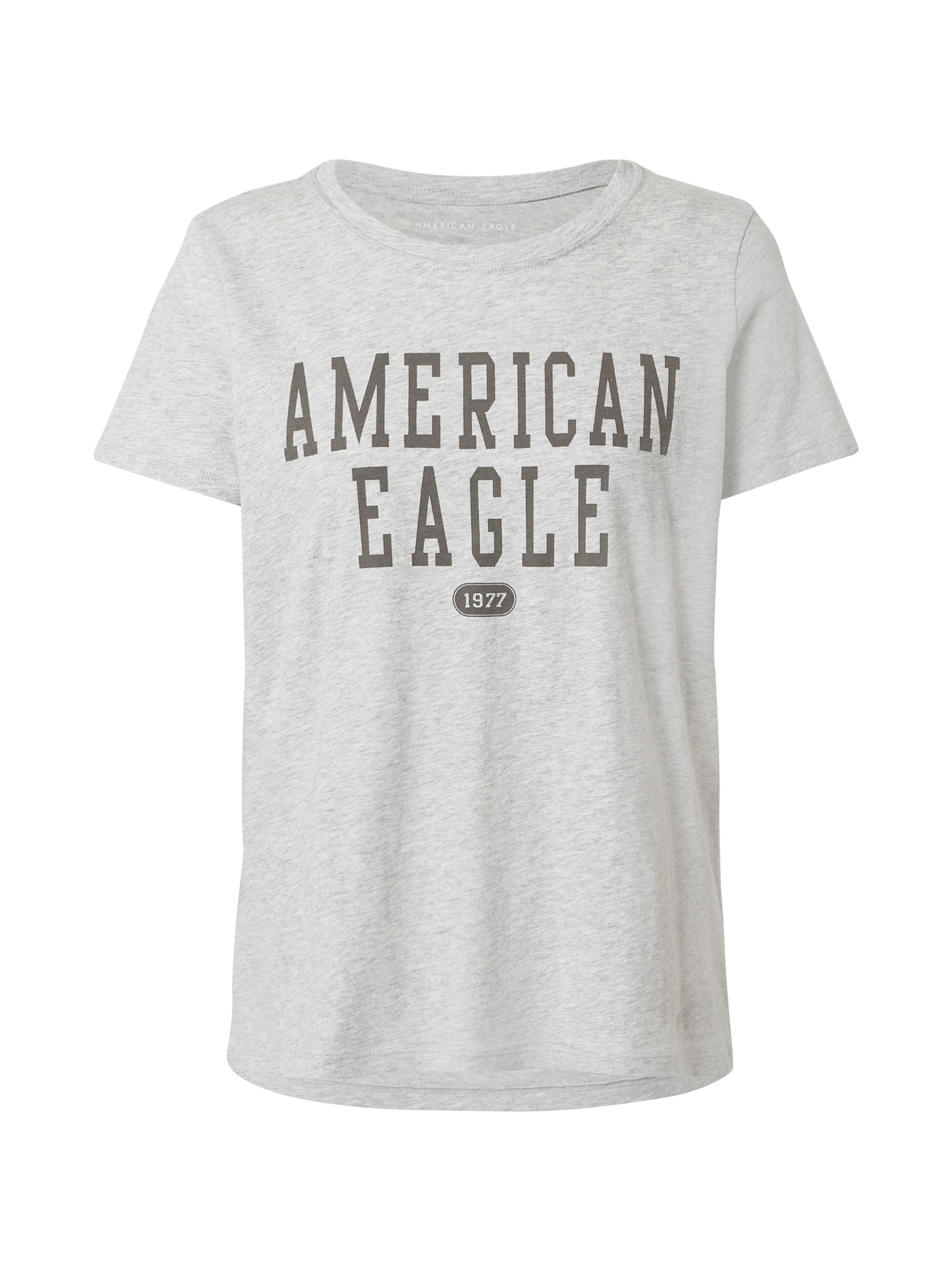American Eagle Marškinėliai margai pilka / antracito