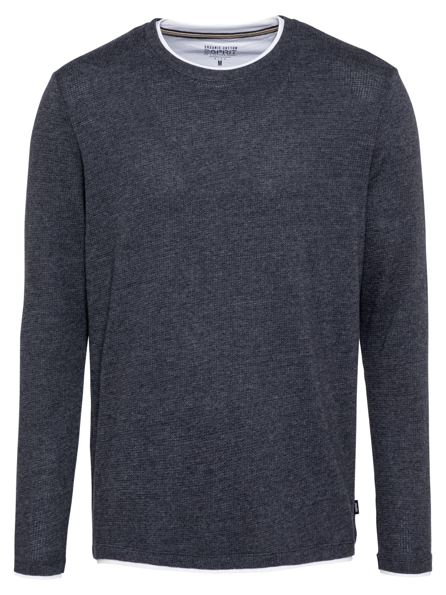 ESPRIT Marškinėliai nakties mėlyna / balta