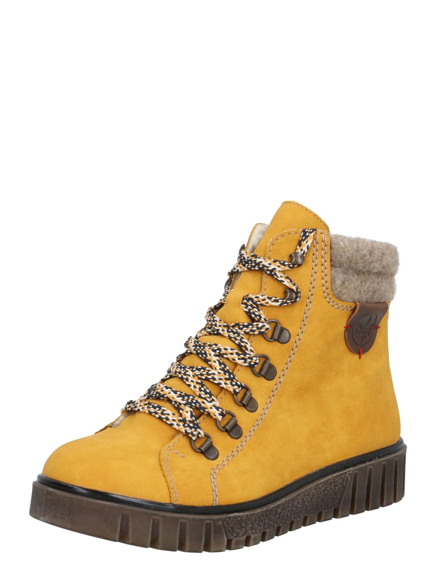 RIEKER Sniego batai tamsiai geltona