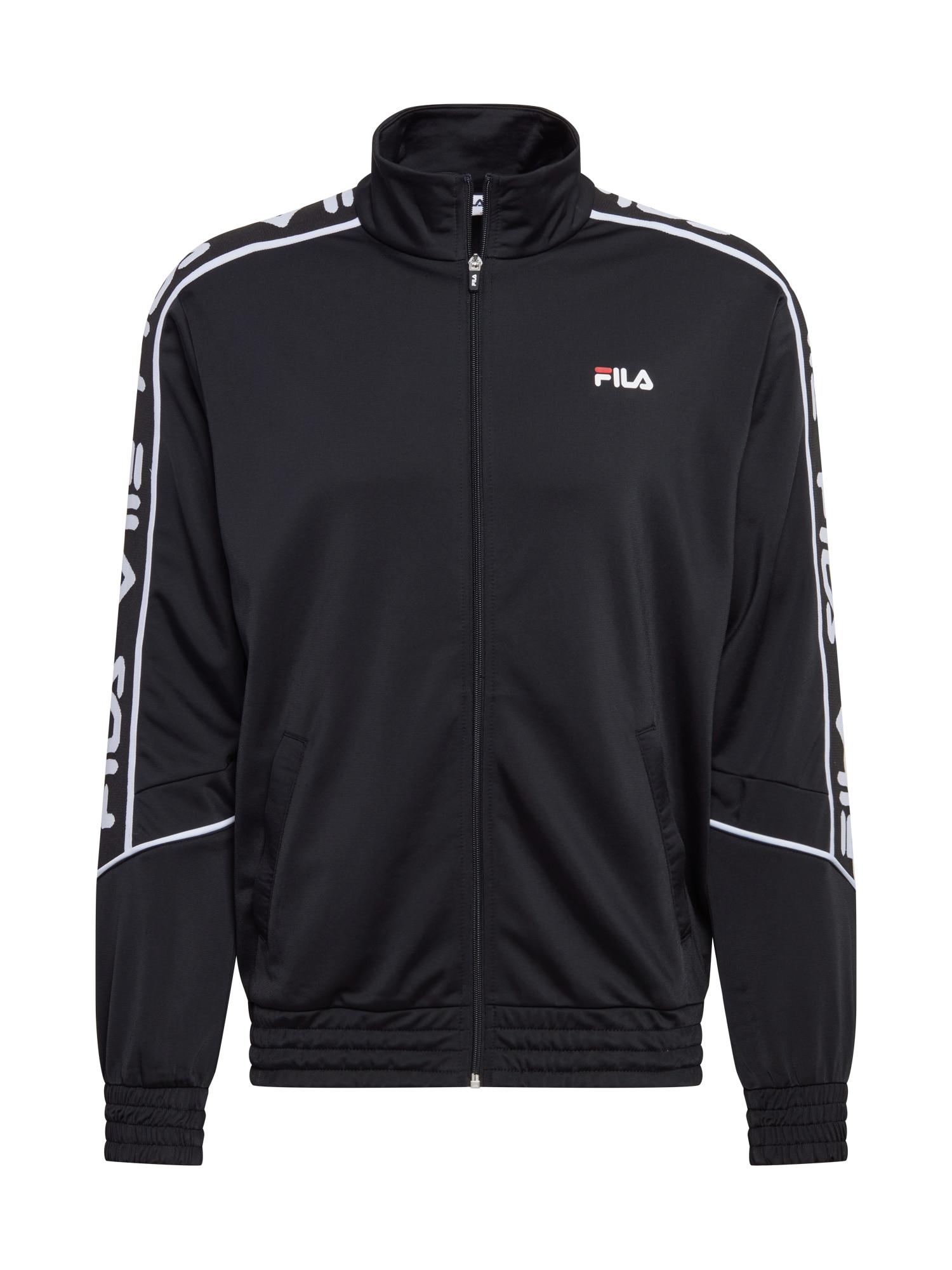 FILA Přechodná bunda  černá / bílá