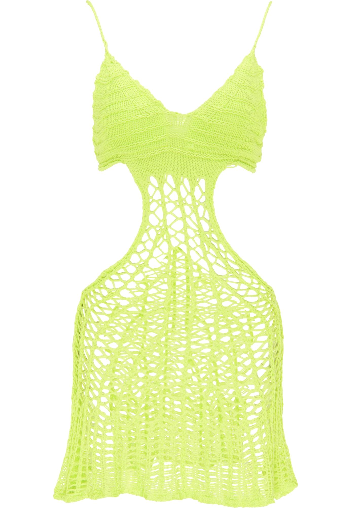 MYMO Paplūdimio suknelė neoninė žalia
