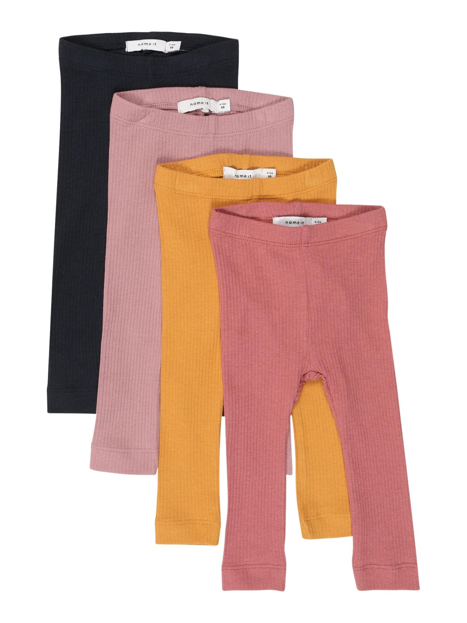 NAME IT Tamprės 'KABEX' ryškiai rožinė spalva / juoda / rožinė / medaus spalva