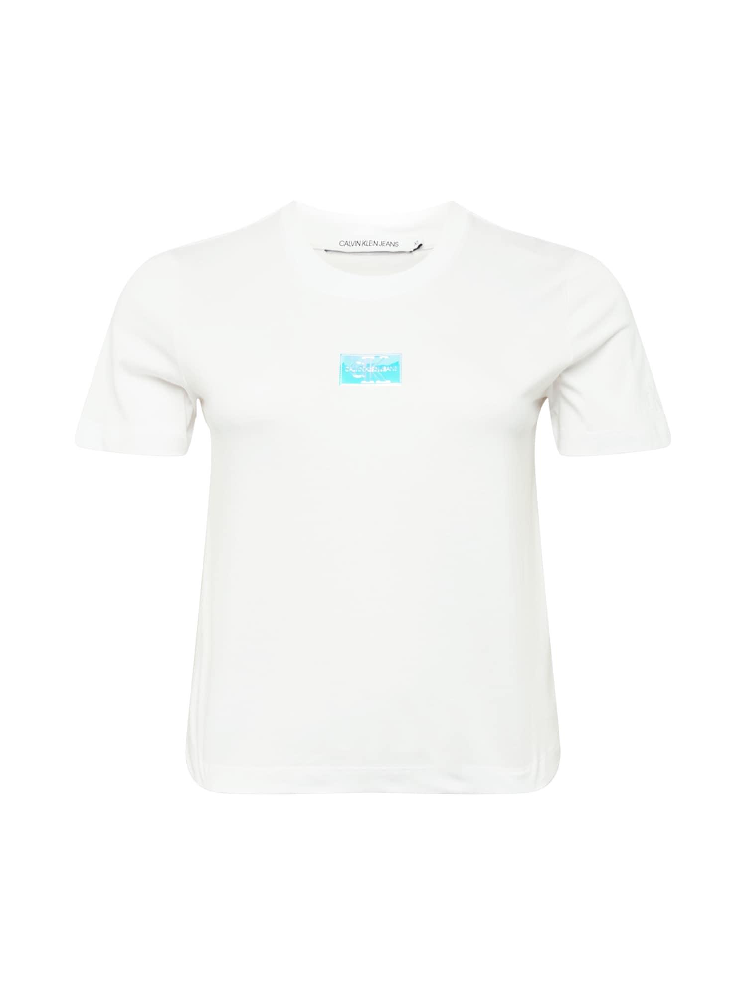 Calvin Klein Jeans Curve Marškinėliai balta