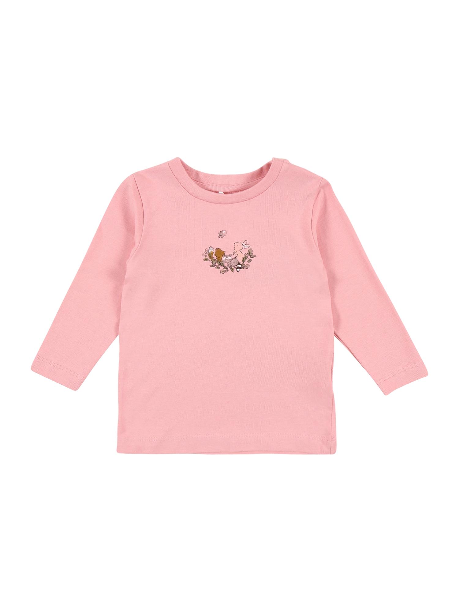 NAME IT Marškinėliai 'SOLAJMA' rožių spalva / mišrios spalvos
