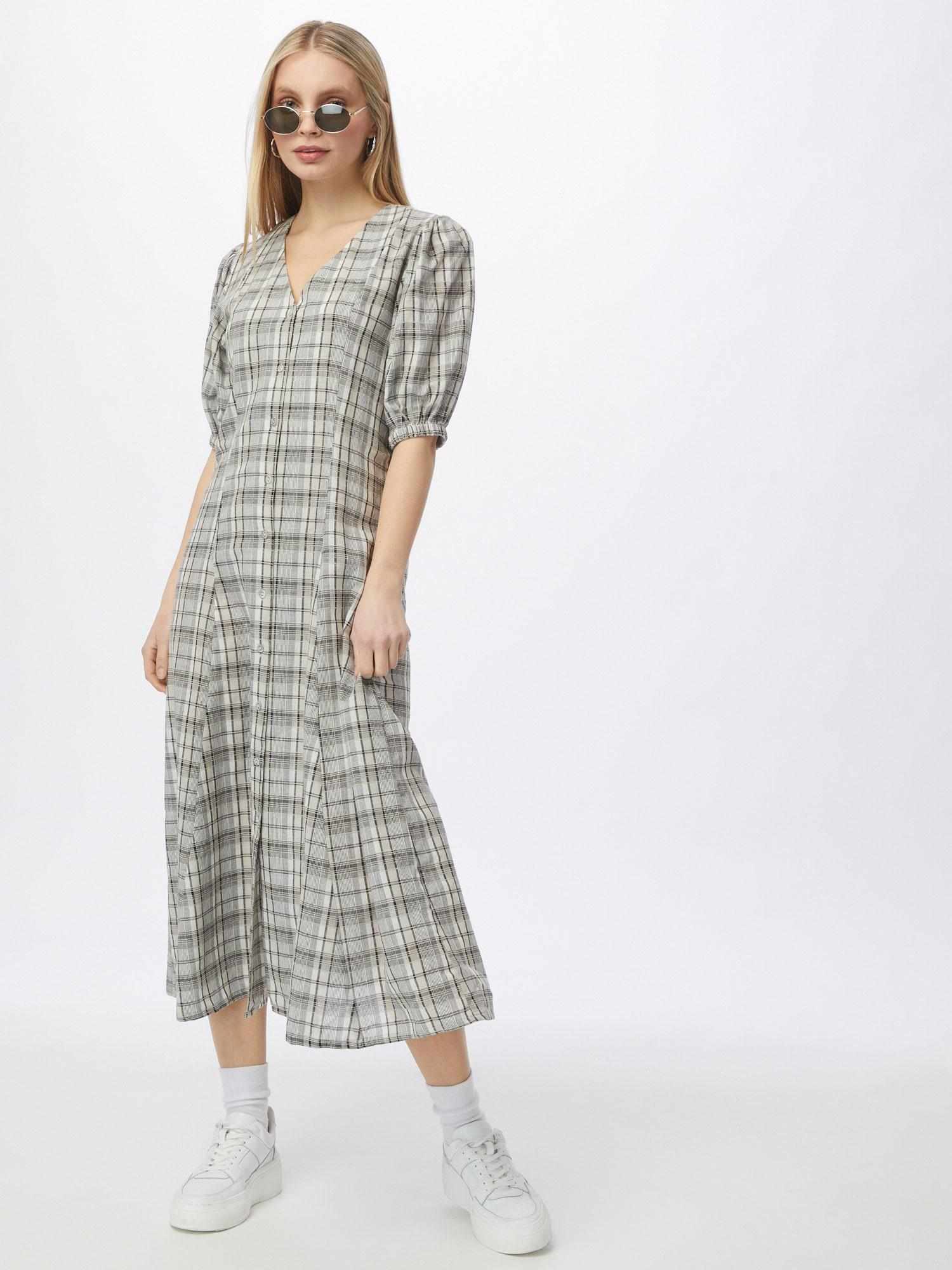 minimum Košeľové šaty 'Beryl'  béžová / sivá.