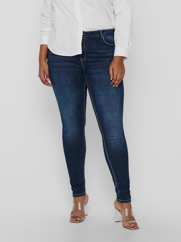 Only Carmakoma Laola Life hochtaillierte enge Jeans