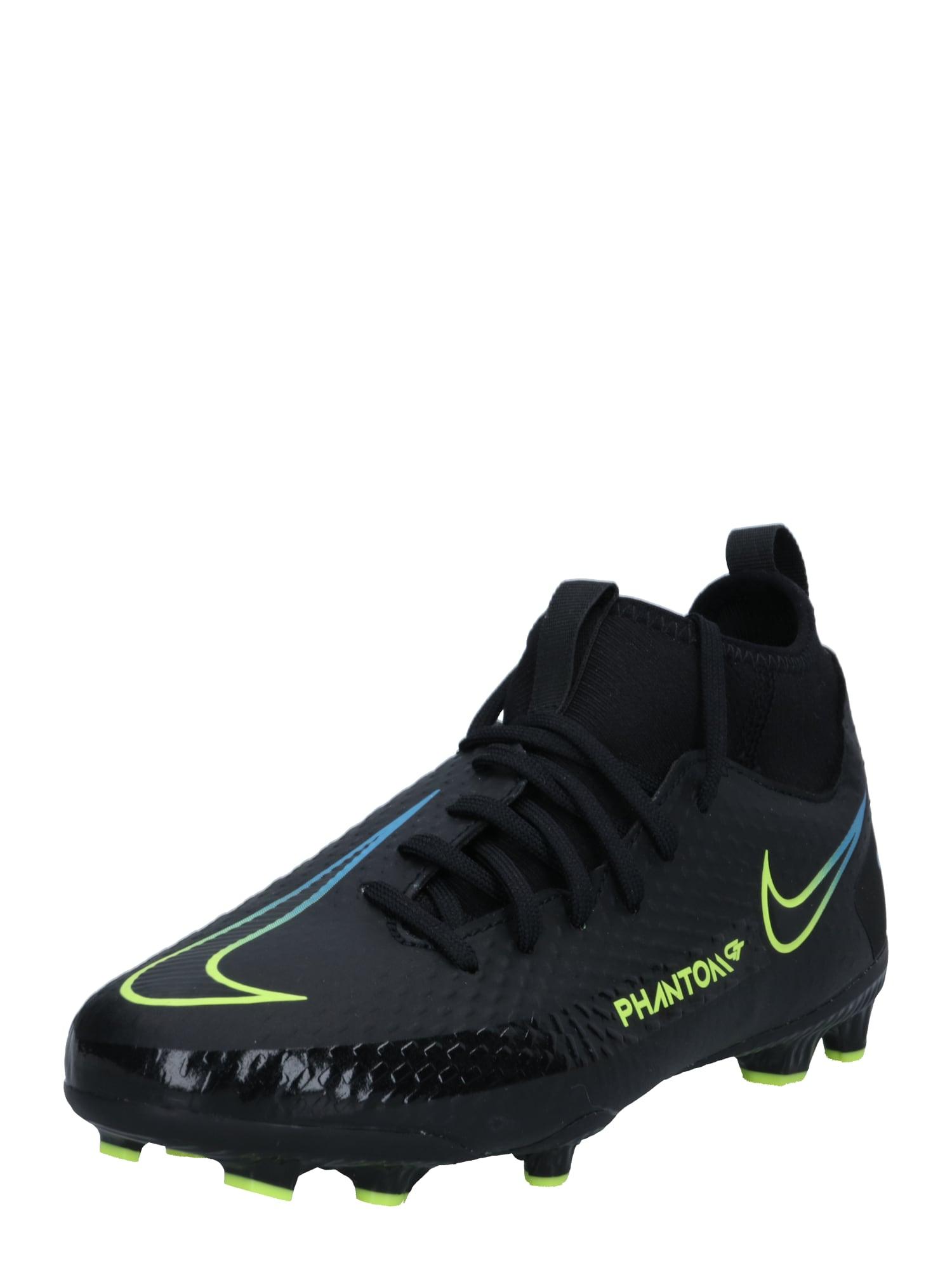 NIKE Sportiniai batai 'Phantom GT Academy' juoda / neoninė geltona / neoninė mėlyna