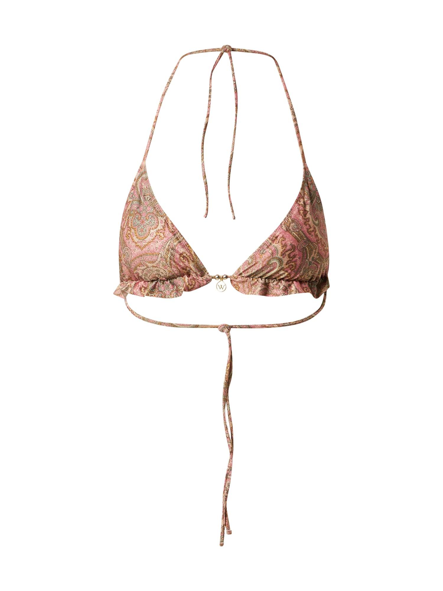 watercult Bikinio viršutinė dalis rožinė / tamsi smėlio / brokato spalva