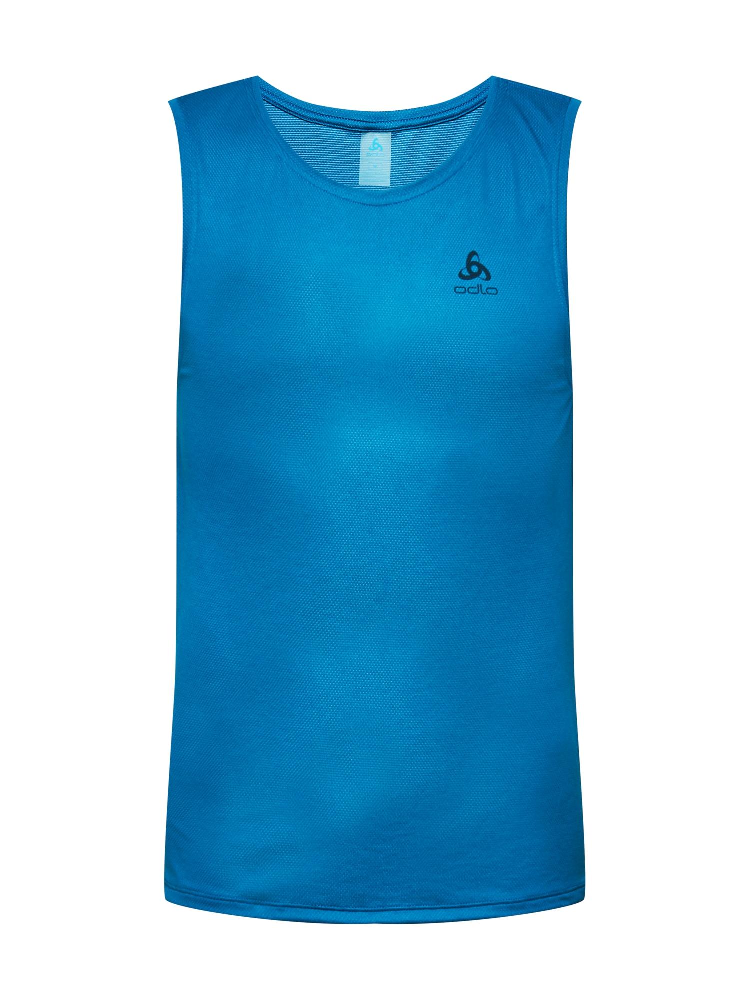 ODLO Sportiniai marškinėliai dangaus žydra / juoda