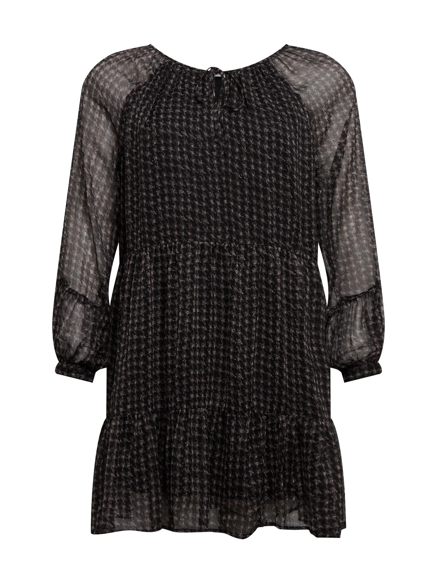 Noisy May Curve Šaty 'Utzie'  černá / šedá