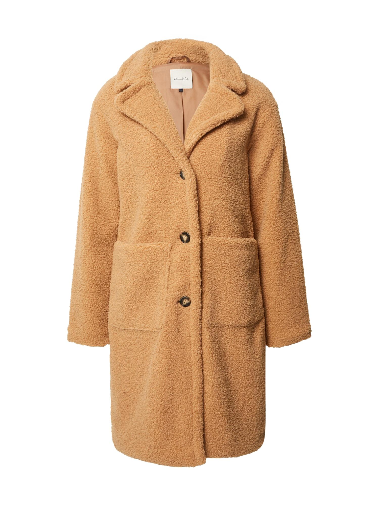 Blend She Demisezoninis paltas šviesiai ruda