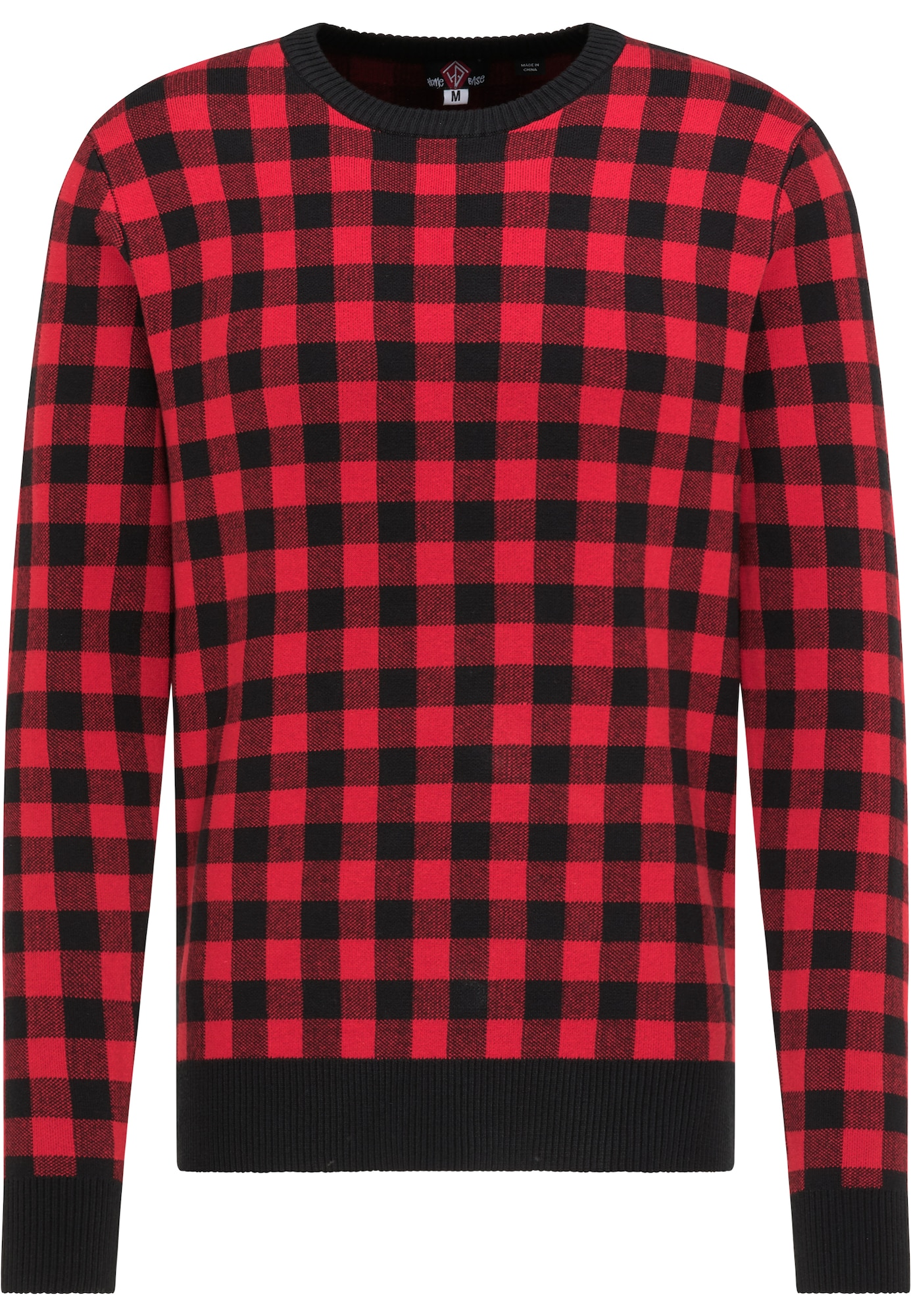 HOMEBASE Megztinis juoda / ugnies raudona