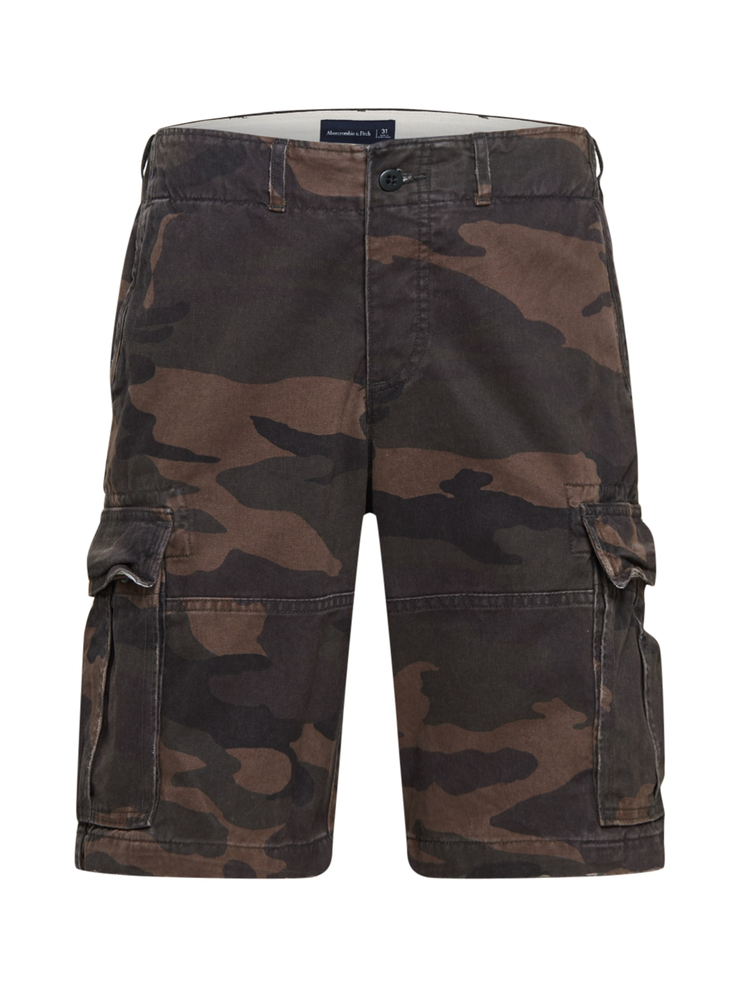 Abercrombie & Fitch Laisvo stiliaus kelnės įdegio spalva / alyvuogių spalva / rusvai žalia / pilka / ruda