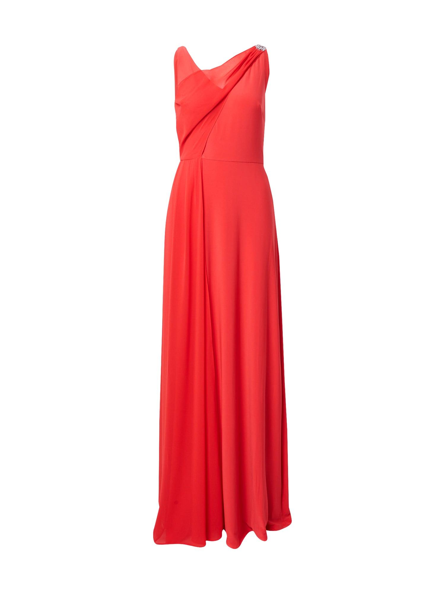 Lauren Ralph Lauren Společenské šaty 'TELYN-SLEEVELESS-EVENING DRESS'  ohnivá červená
