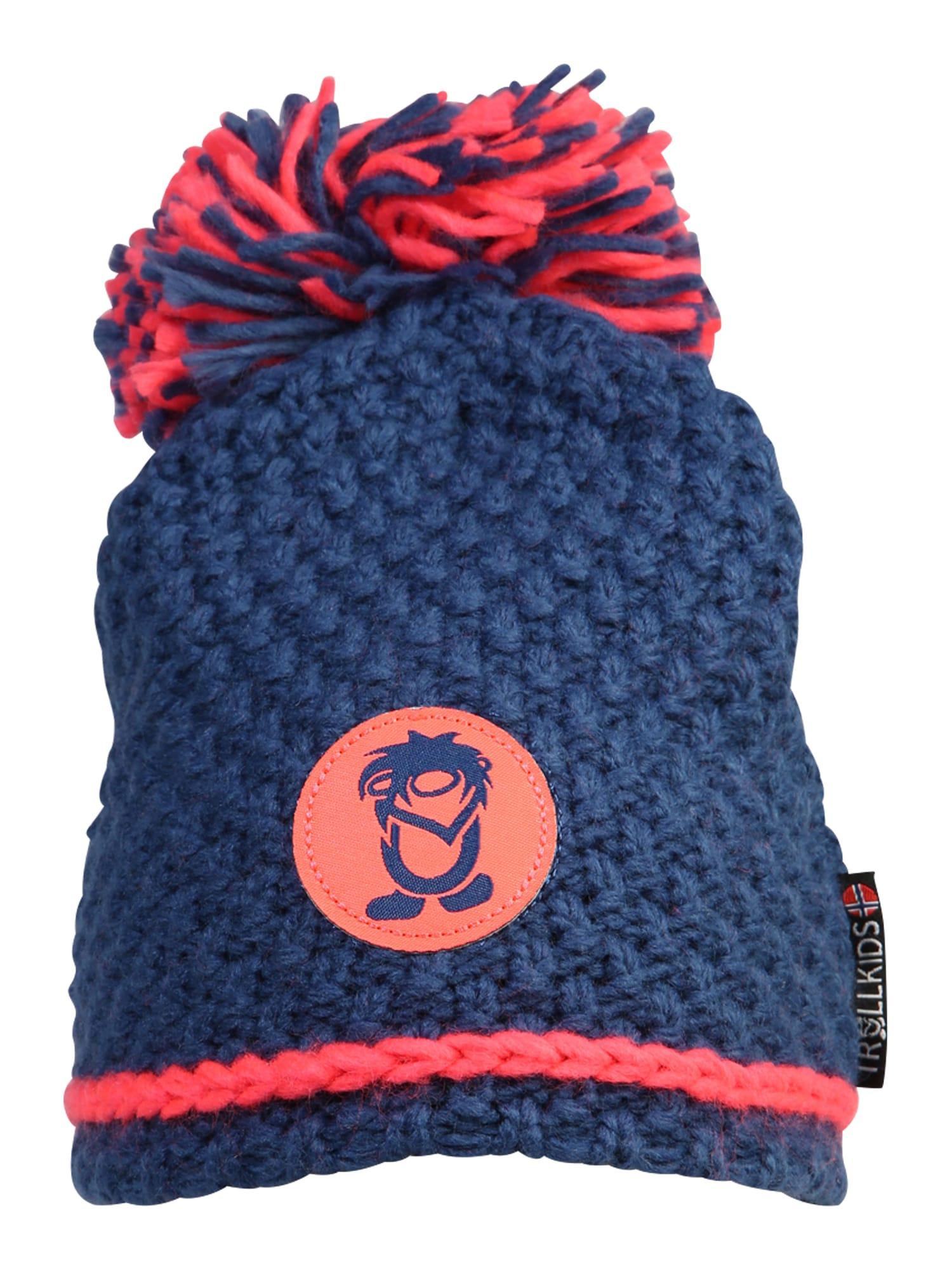 TROLLKIDS Sportinė kepurė 'Hemsedal ' mėlyna / neoninė rožinė