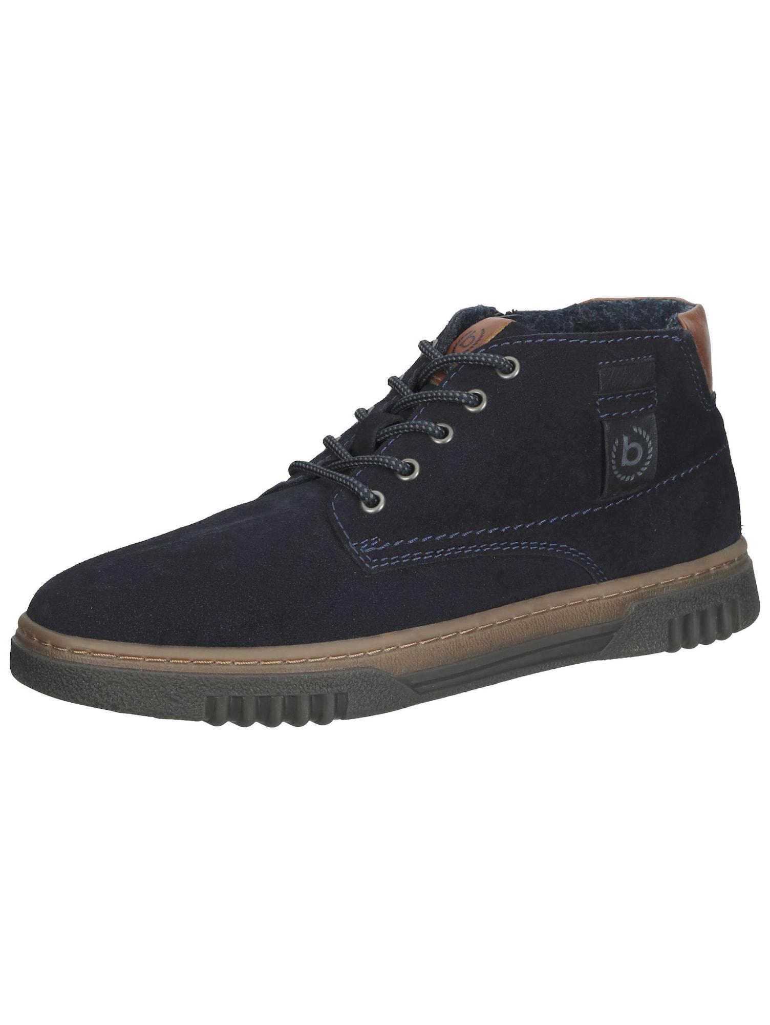 bugatti Auliniai batai su raišteliais tamsiai mėlyna / ruda