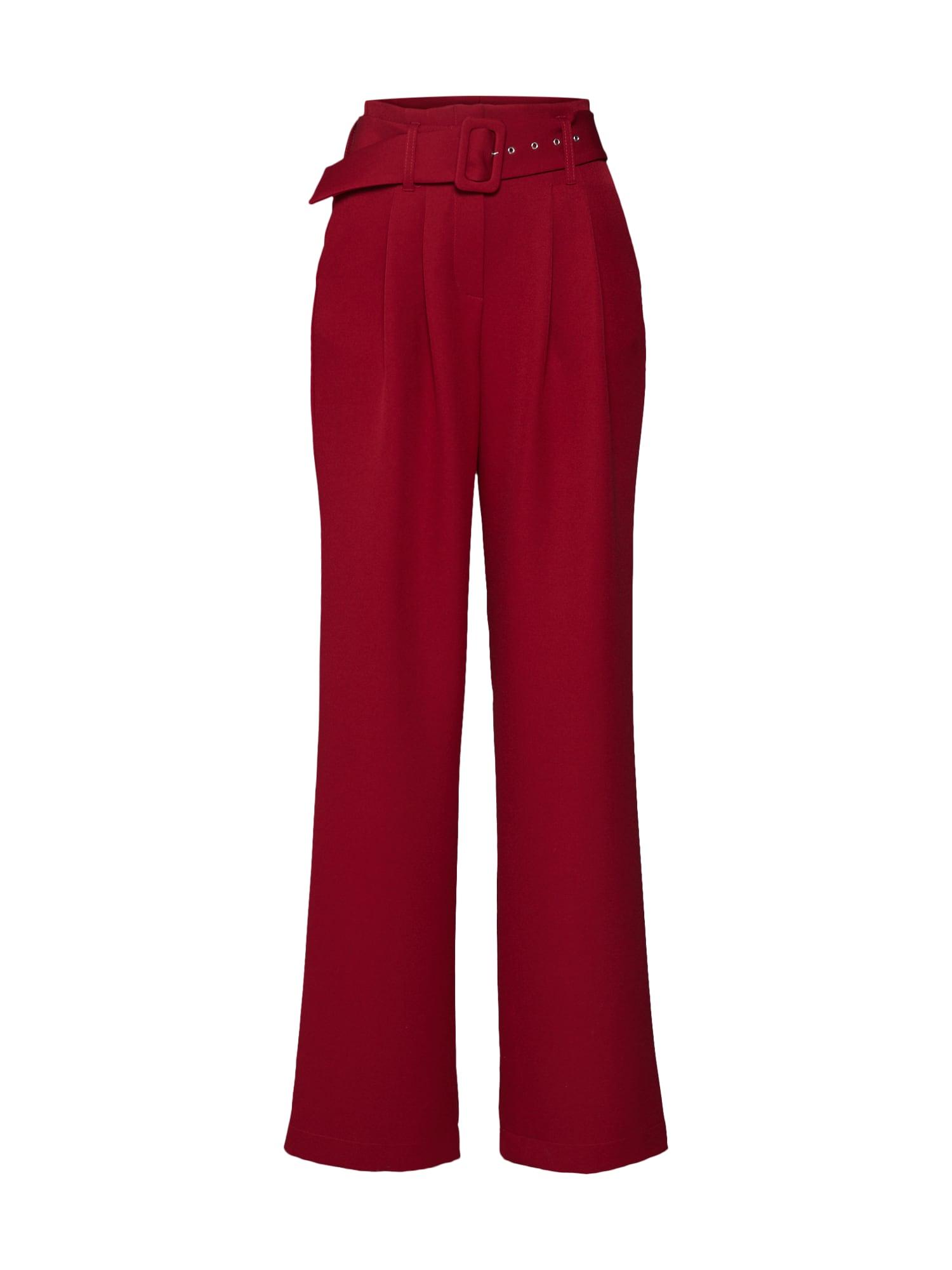 LeGer by Lena Gercke Chino stiliaus kelnės 'Flora' tamsiai raudona