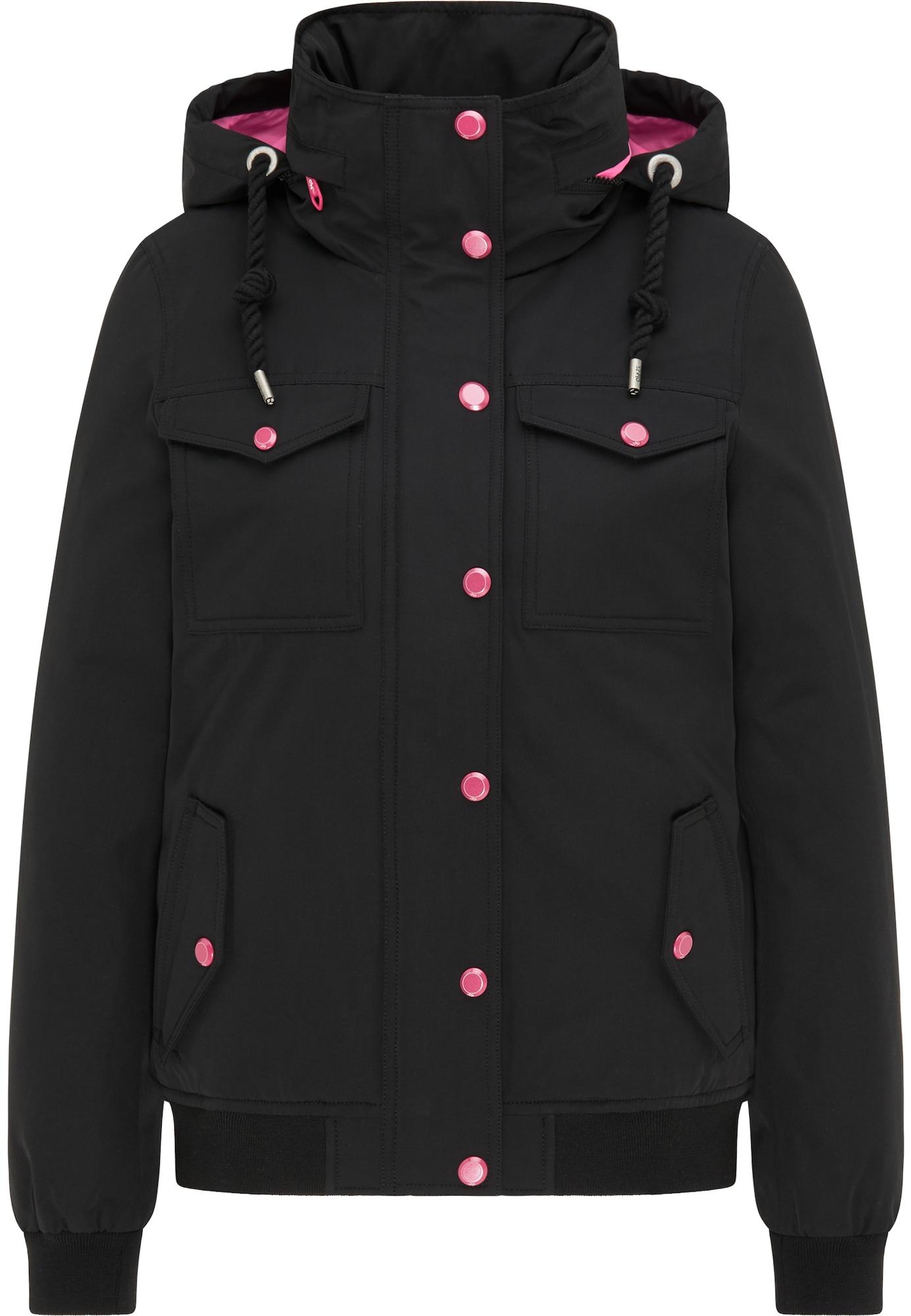 MYMO Žieminė striukė juoda / rožinė