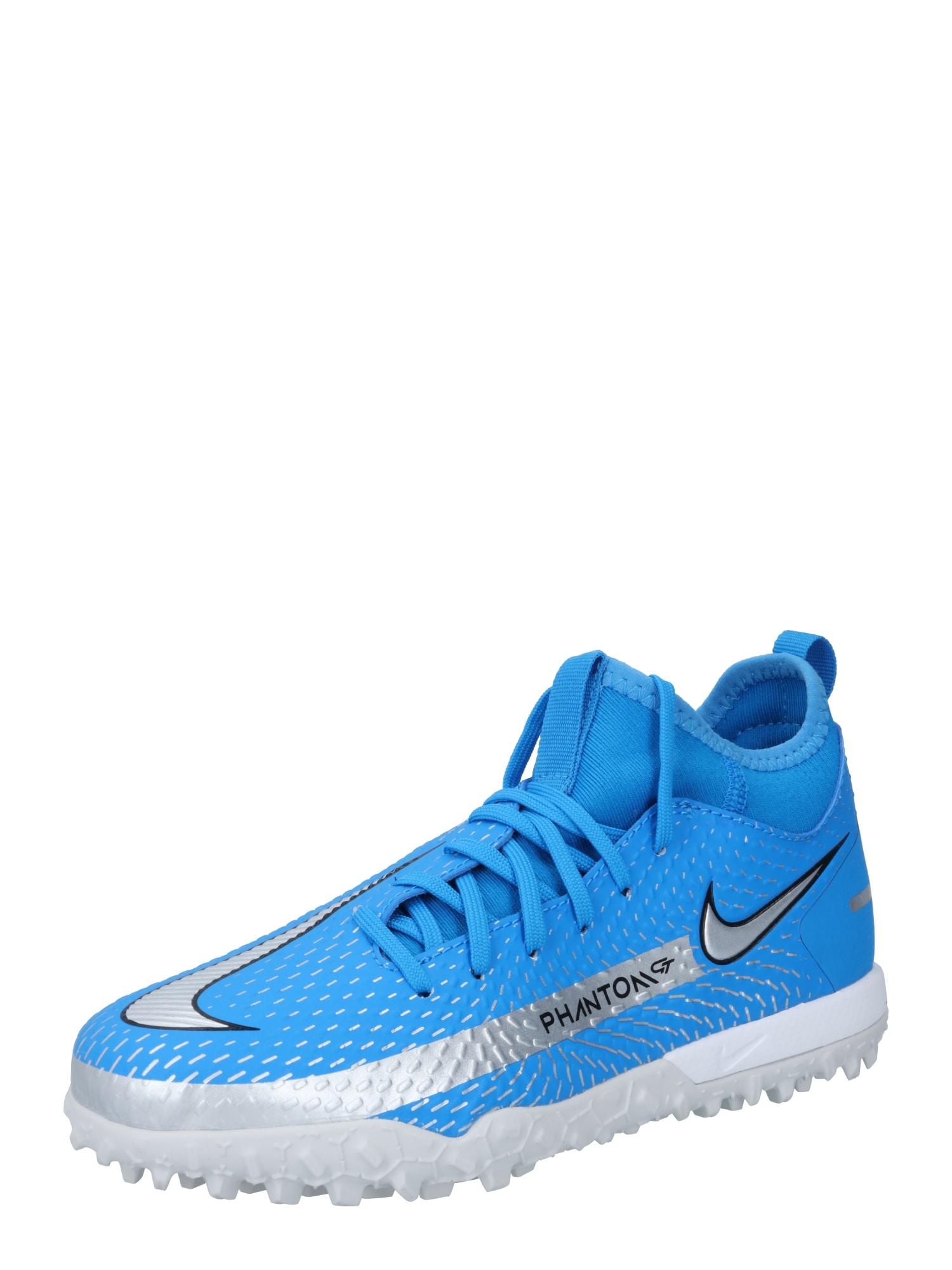 NIKE Sportiniai batai 'Phantom GT Academy' dangaus žydra / sidabrinė