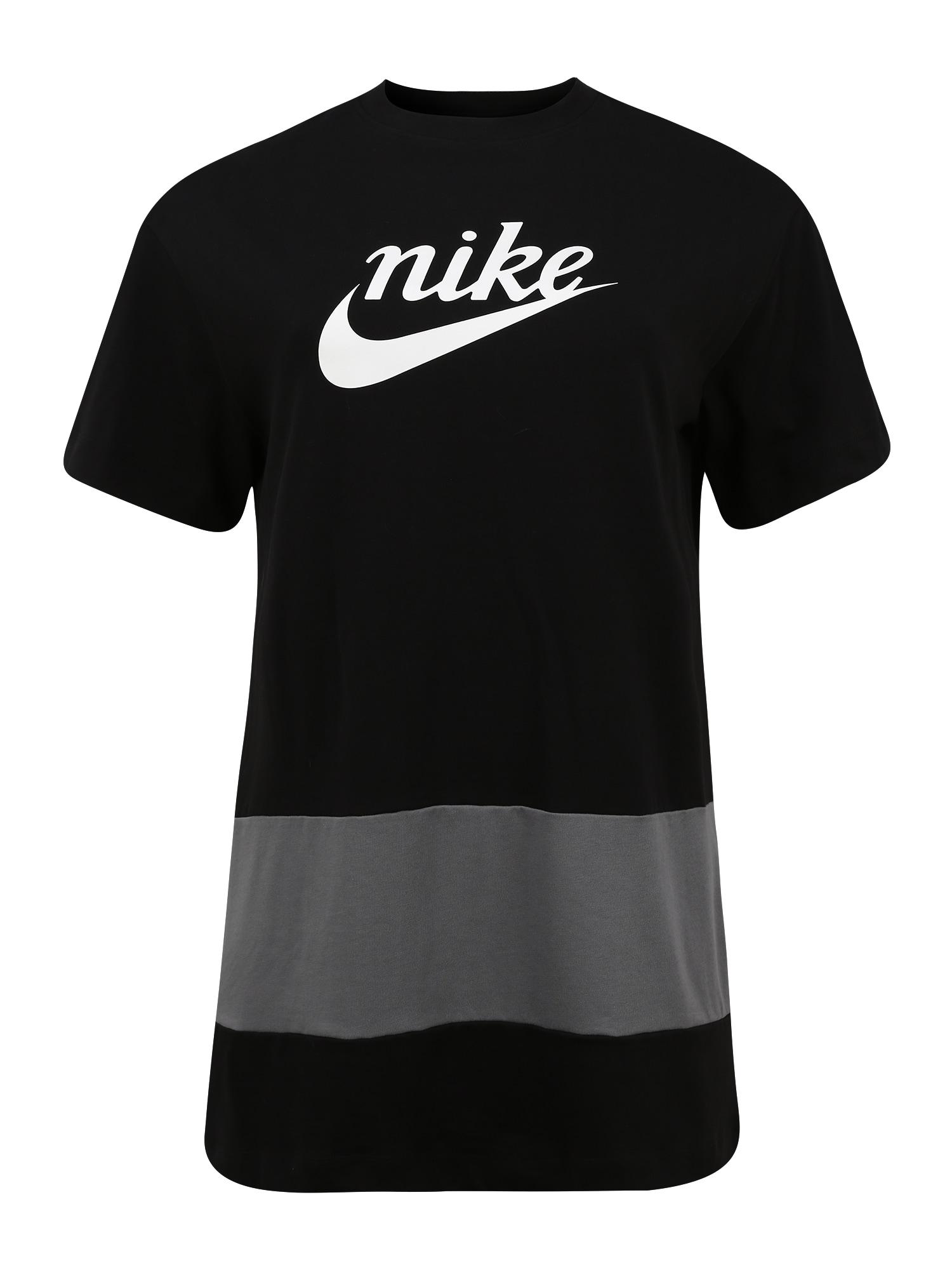 Nike Sportswear Suknelė juoda / balta / pilka
