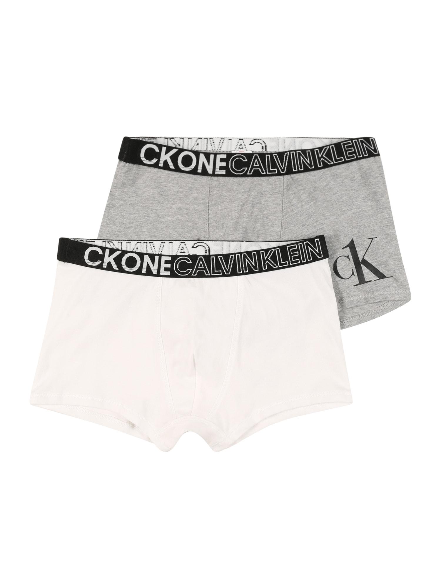Calvin Klein Underwear Apatinės kelnaitės pilka / balta