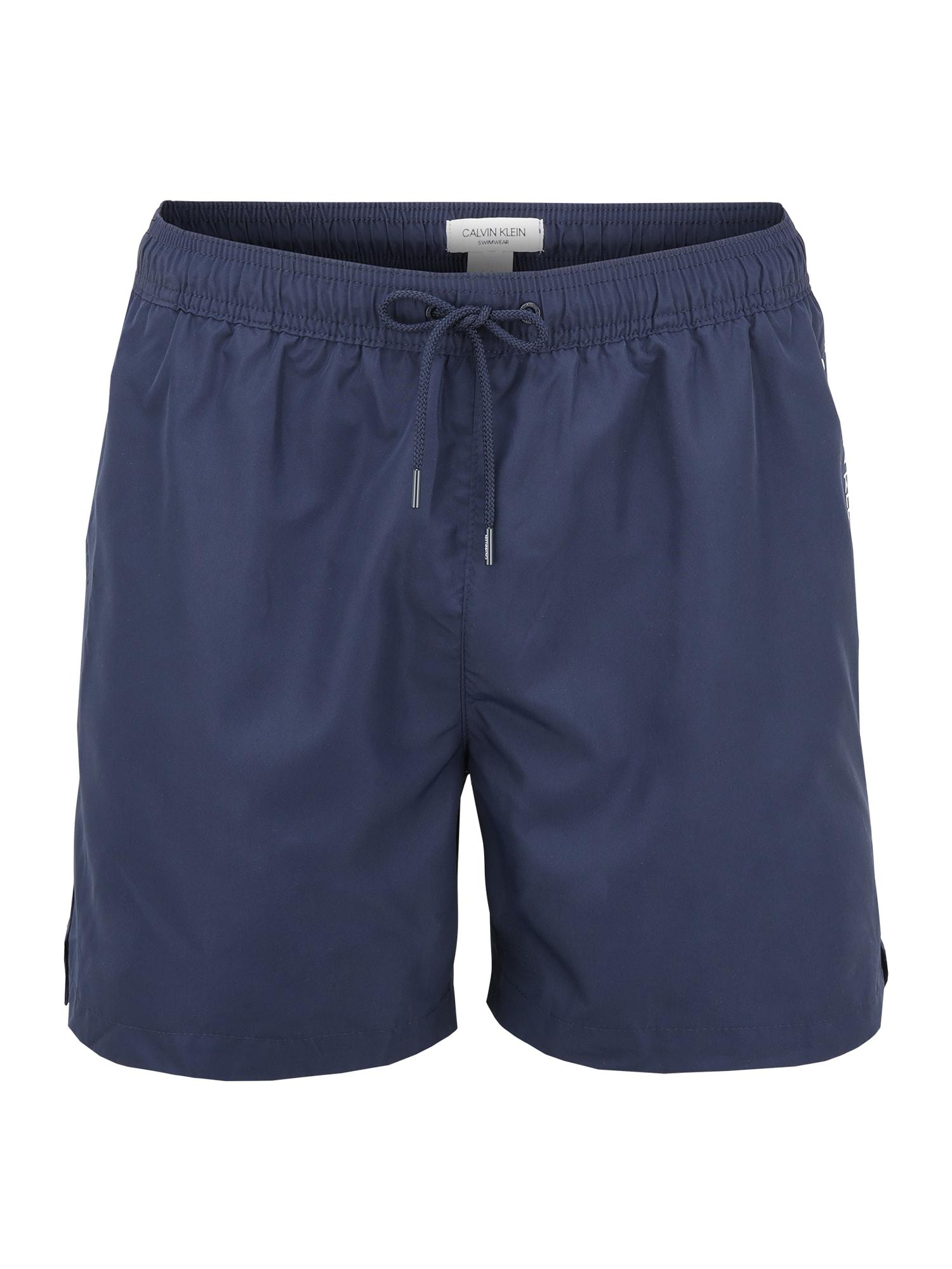 Calvin Klein Swimwear Maudymosi trumpikės balta / nakties mėlyna