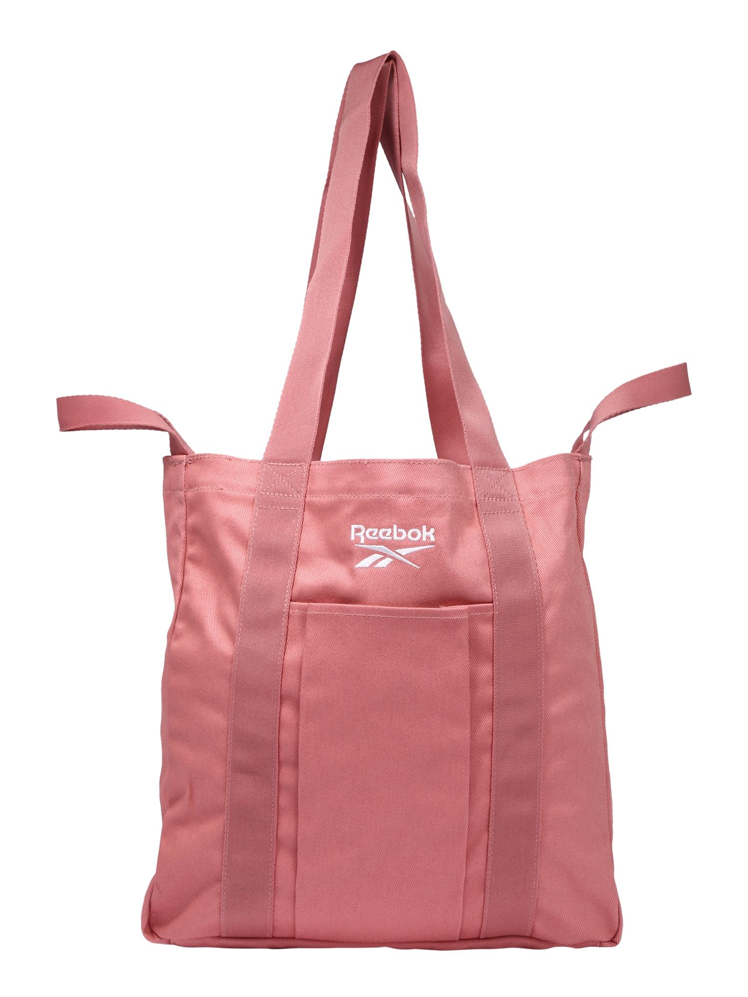 Reebok Classic Pirkinių krepšys rožių spalva / balta