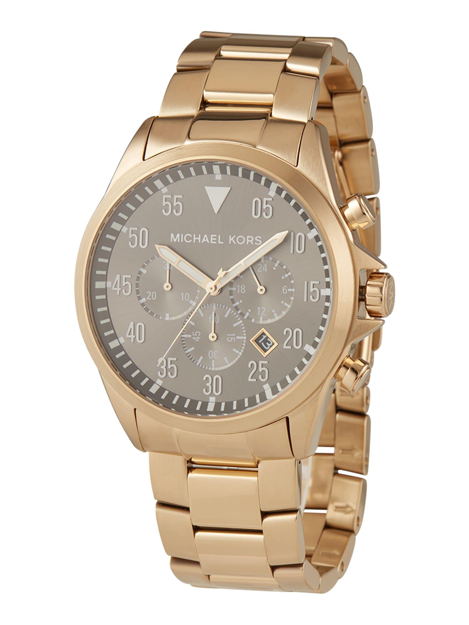 Michael Kors Analoginis (įprasto dizaino) laikrodis 'Gage' auksas / juoda