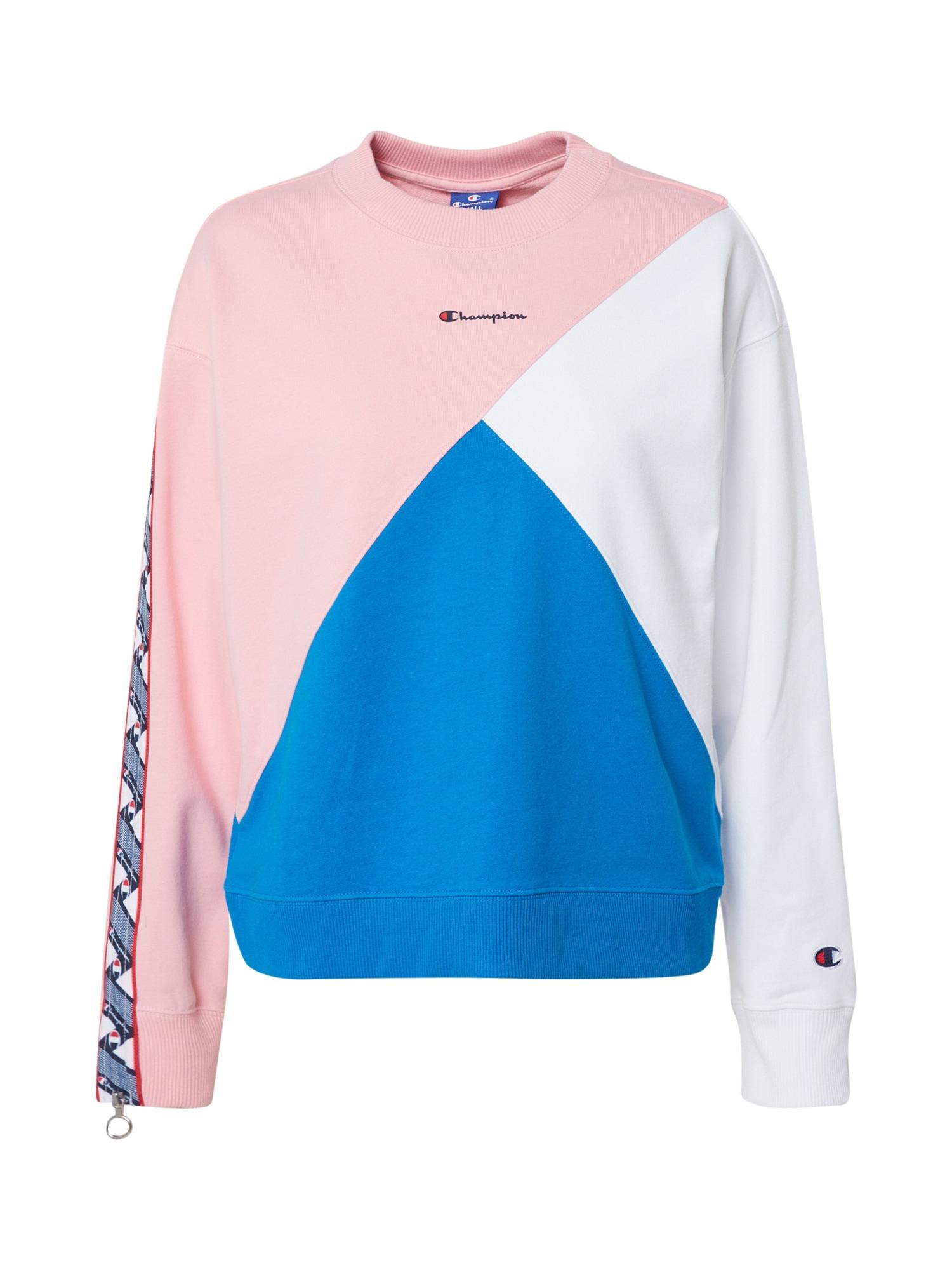 Champion Authentic Athletic Apparel Megztinis be užsegimo balta / rožių spalva