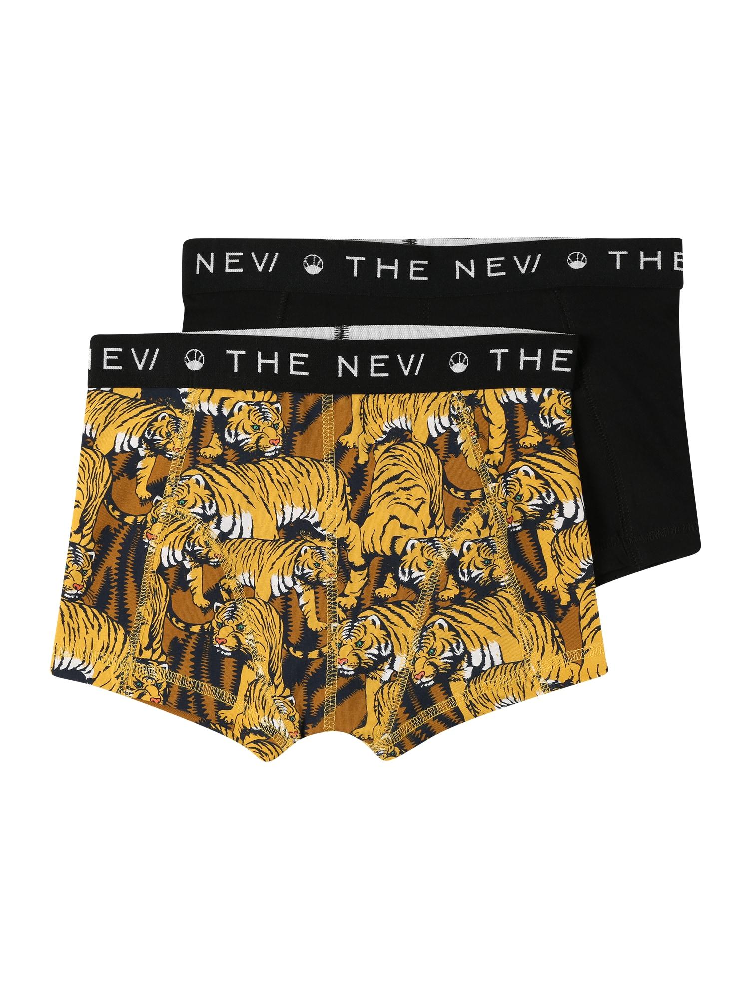 The New Apatinės kelnaitės juoda / geltona / balta