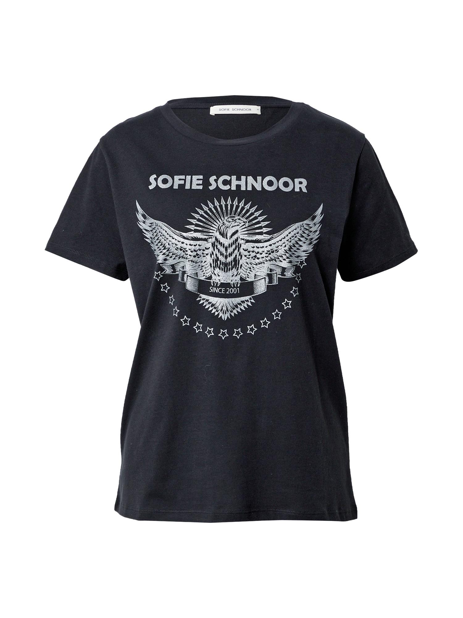 Sofie Schnoor Tričko  černá / stříbrná