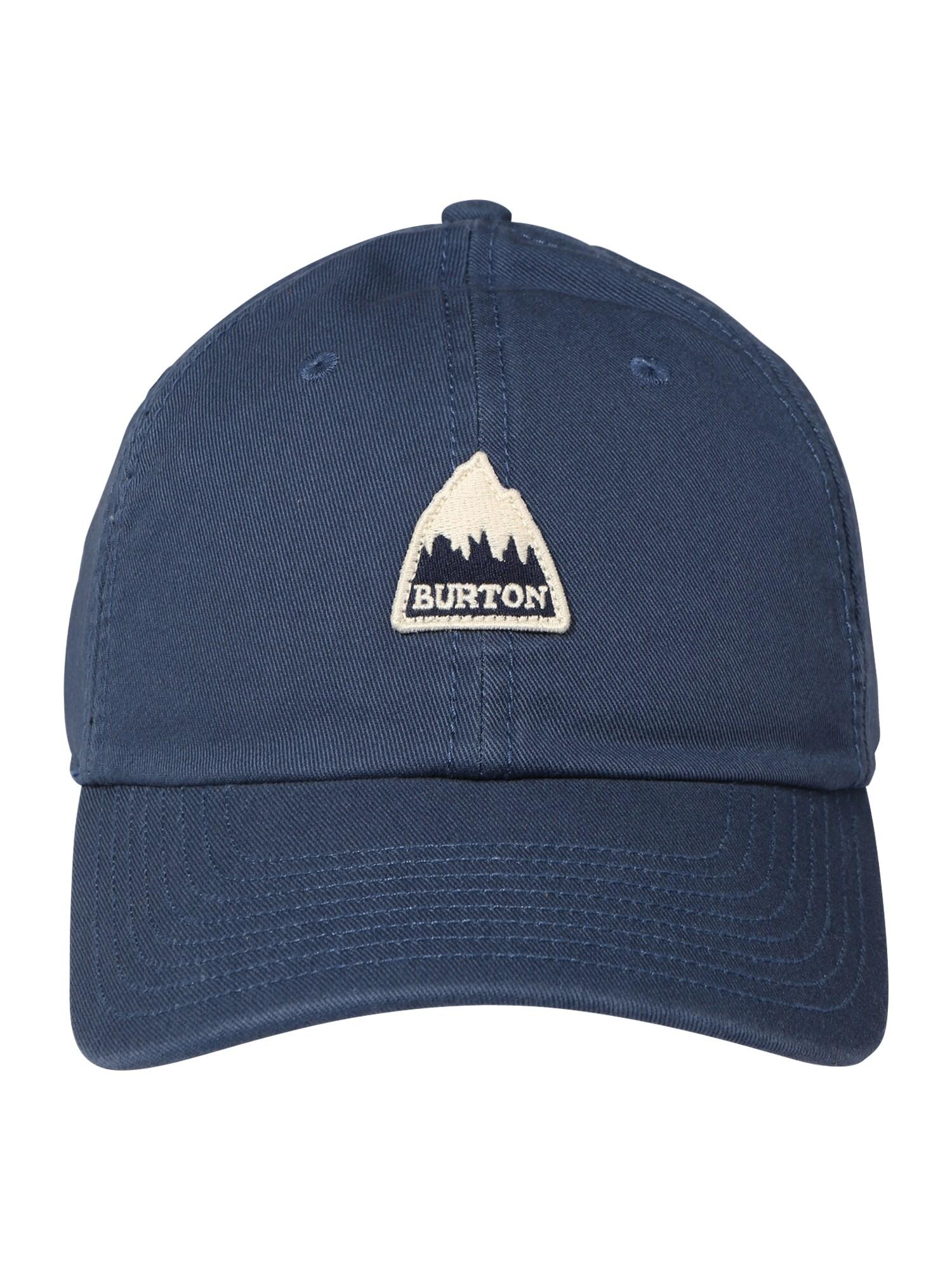 BURTON Sportinė kepurė tamsiai mėlyna / juoda / gelsvai pilka spalva