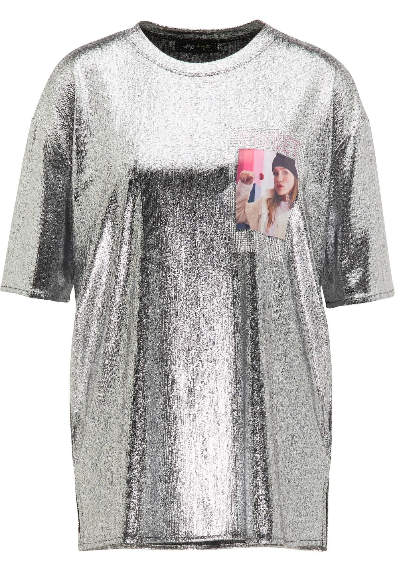 myMo at night Marškinėliai sidabrinė / rožinė
