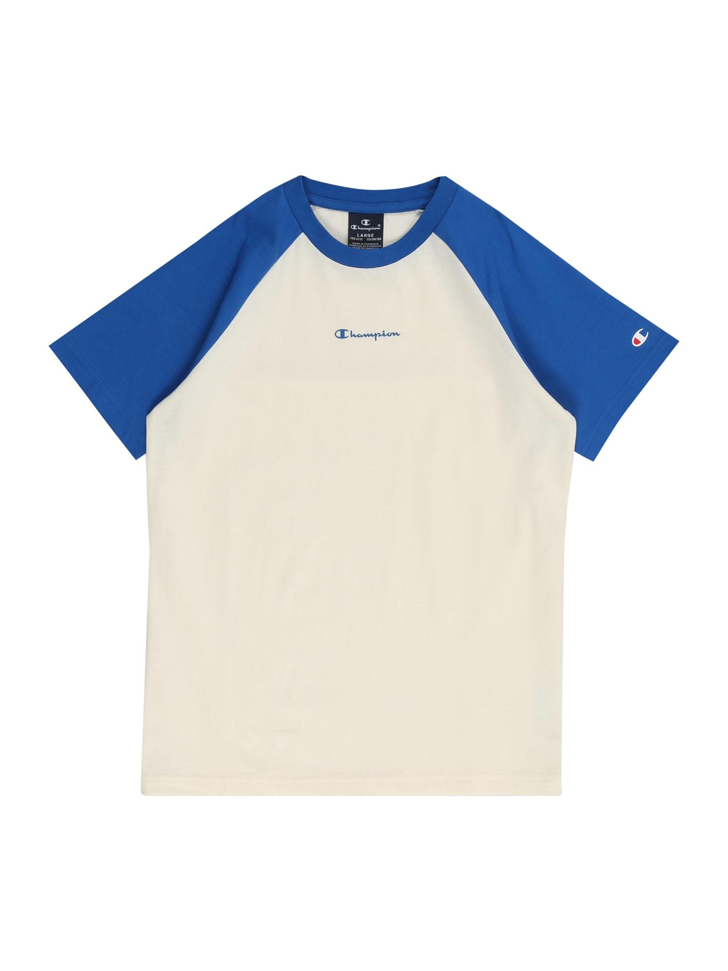 Champion Authentic Athletic Apparel Marškinėliai mėlyna / balkšva