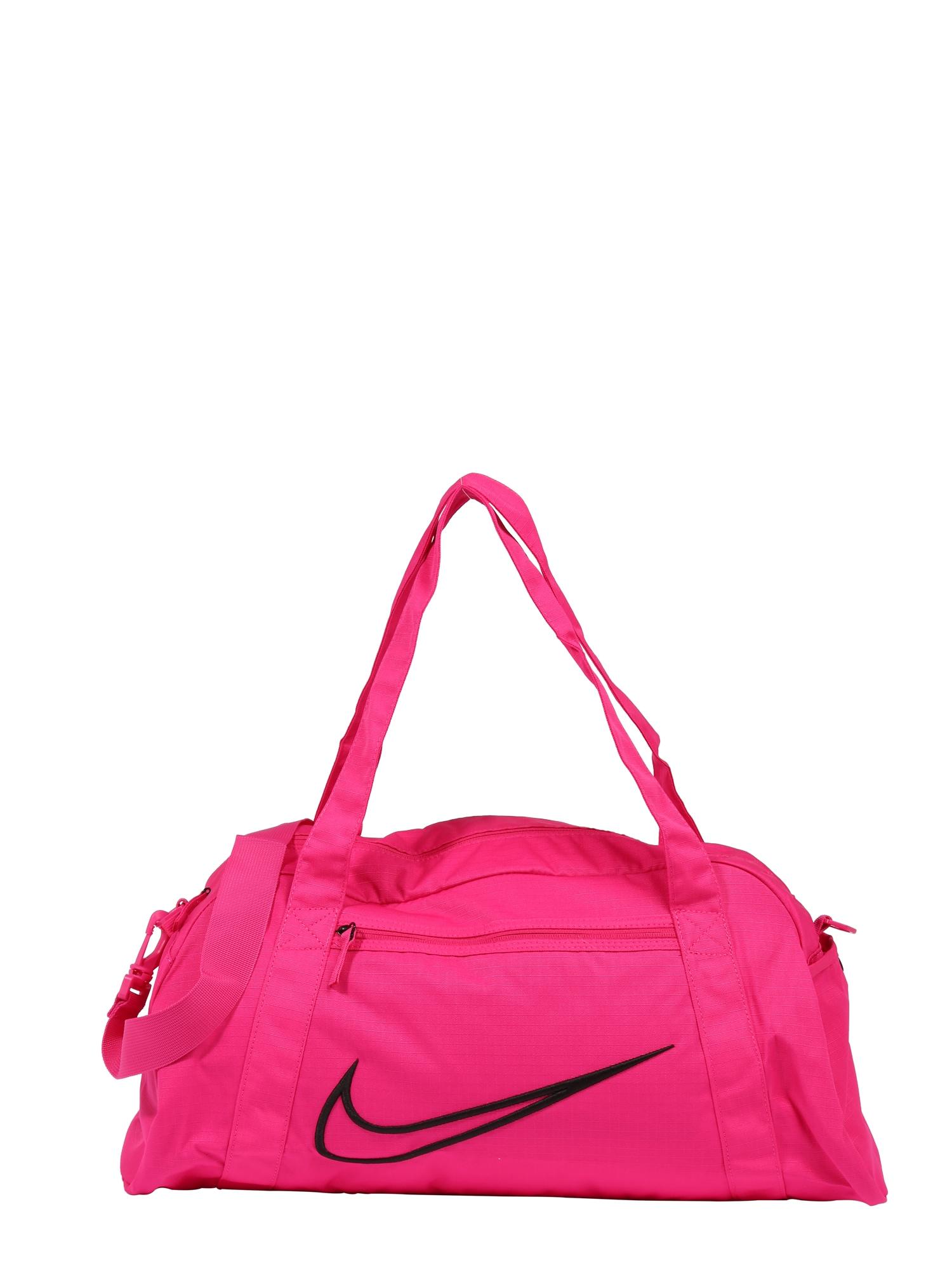 NIKE Sportinis krepšys fuksijų spalva / juoda