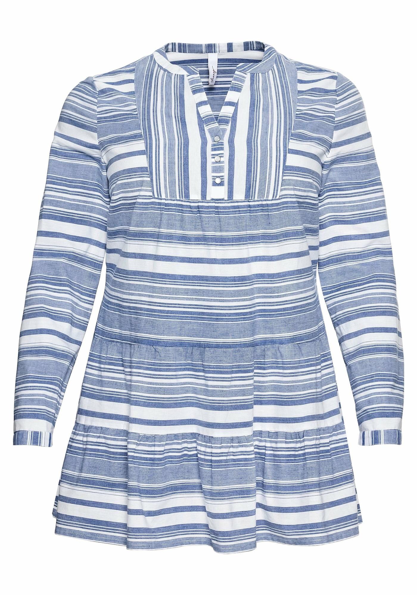 SHEEGO Tunika mėlyna / balta