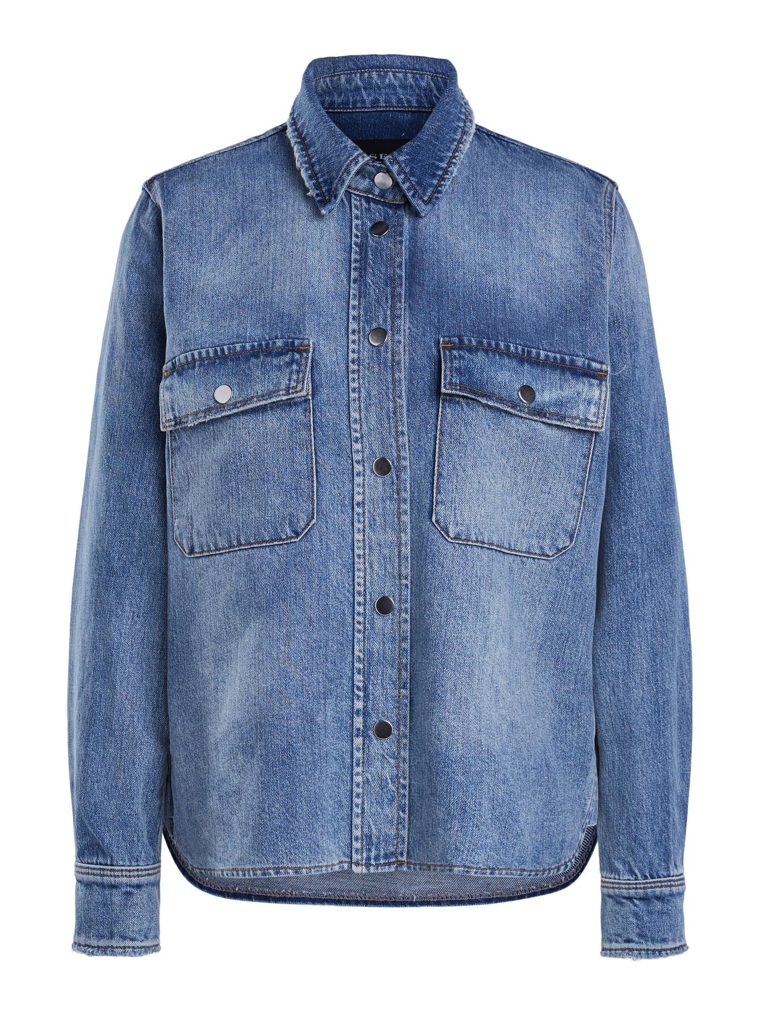 SET Demisezoninė striukė tamsiai (džinso) mėlyna